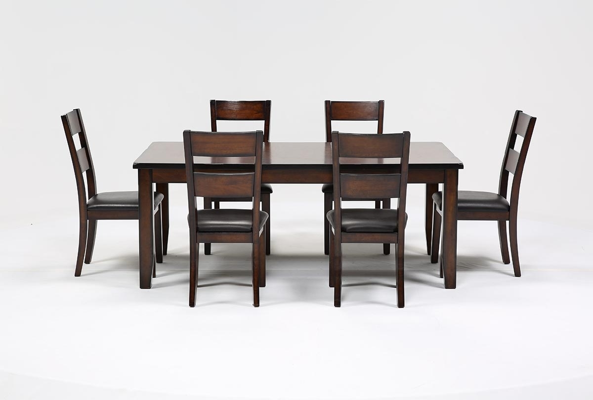 Rocco 7 Piece Extension Dining Set | Living Spaces Within Most Current Gavin 7 Piece Dining Sets With Clint Side Chairs (Photo 16 of 20)