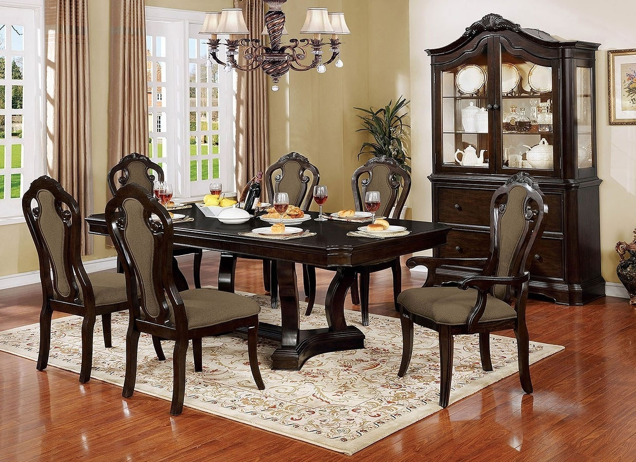 Rosalina Dining Room Set Furniture Of America | Furniture Cart Regarding Most Popular Valencia 72 Inch Extension Trestle Dining Tables (Photo 19 of 20)