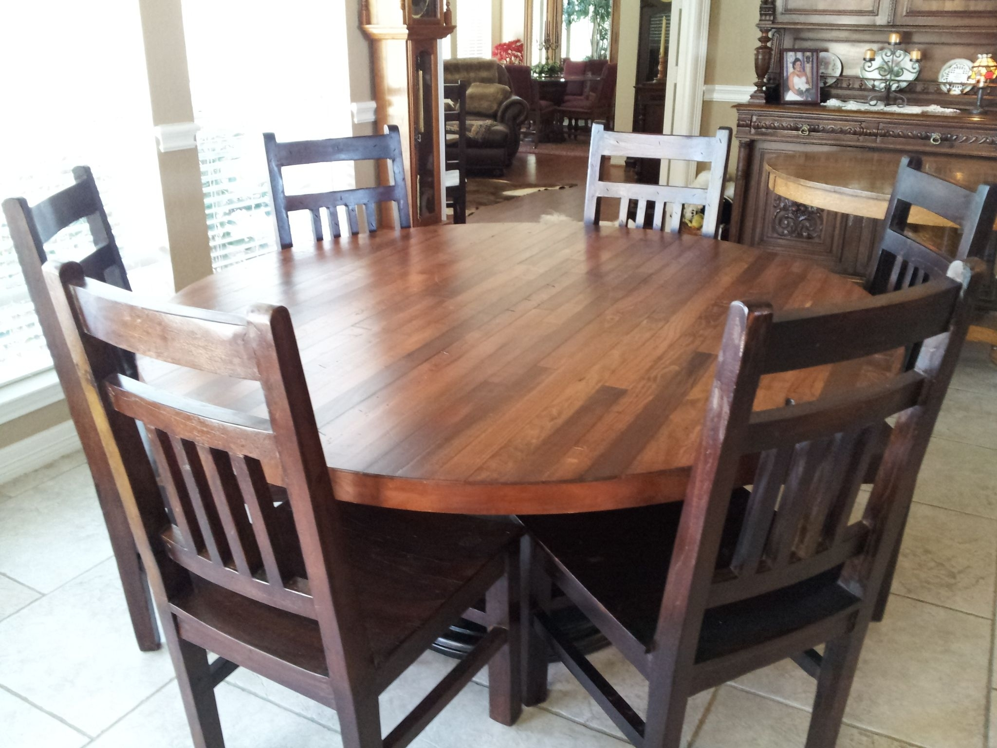 Round Dining And Kitchen Tables | Custommade With 2018 Parquet 6 Piece Dining Sets (Image 12 of 20)