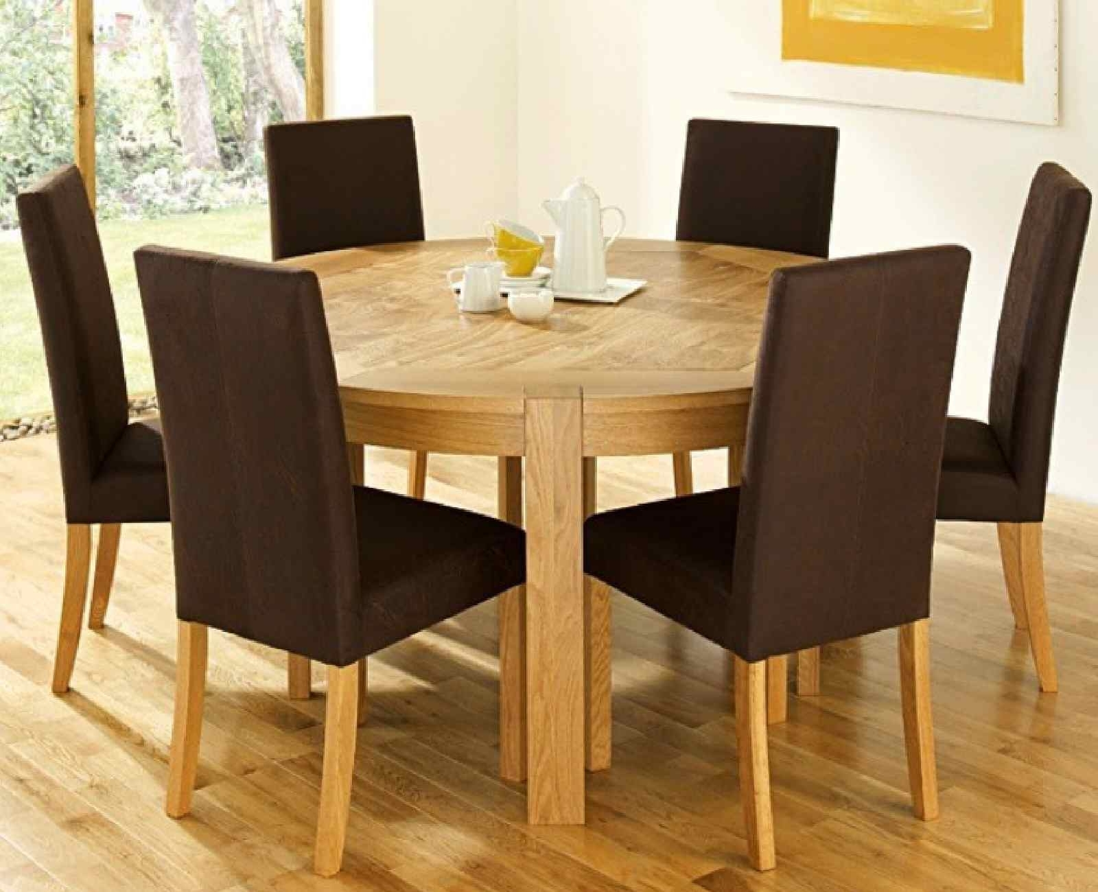 Round Dining Table Set For 6 – Castrophotos Inside Latest Parquet 6 Piece Dining Sets (Image 13 of 20)