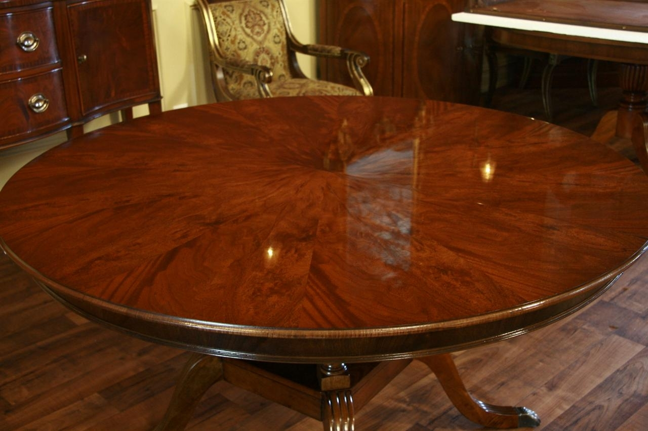 Round To Oval Mahogany Dining Table Intended For Latest Laurent Round Dining Tables (View 2 of 20)
