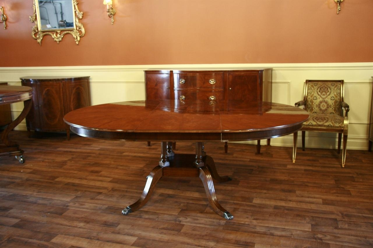 Round To Oval Mahogany Dining Table Regarding Most Popular Laurent Round Dining Tables (Image 15 of 20)