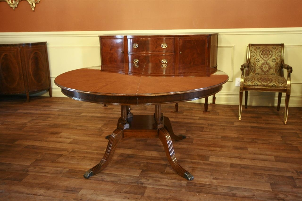 Round To Oval Mahogany Dining Table Within Recent Laurent Round Dining Tables (View 3 of 20)