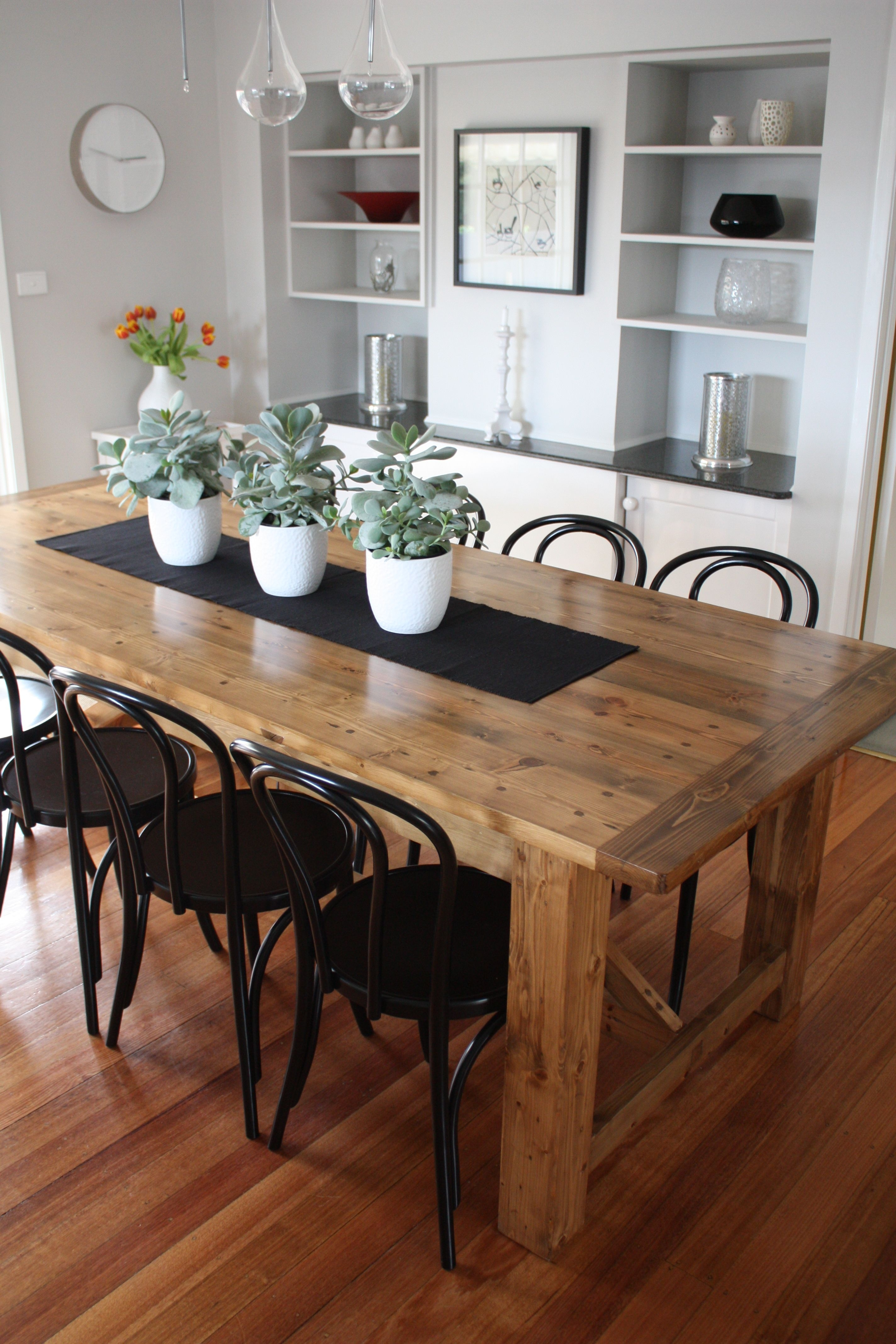 Rustic Dining Table Pairs With Bentwood Chairs | House Interior In 2017 Parquet 6 Piece Dining Sets (Image 14 of 20)
