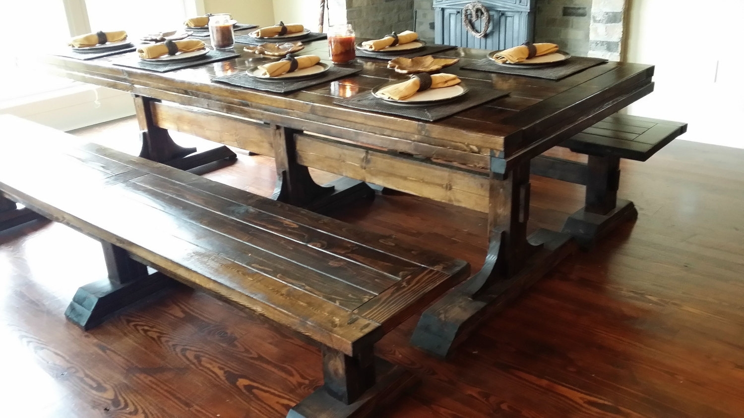 Rustic Farmhouse Table Plans Unique Winsome Farm Dining Tables 12 Pertaining To Most Popular Farm Dining Tables (Image 15 of 20)