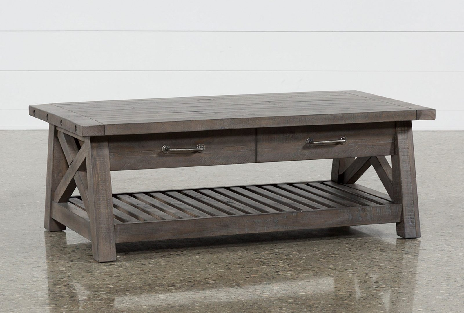 Rustic Grey Wood Coffee Table Crafted Home | Mimodelaviation Intended For 2018 Jaxon Grey Round Extension Dining Tables (Photo 20 of 20)