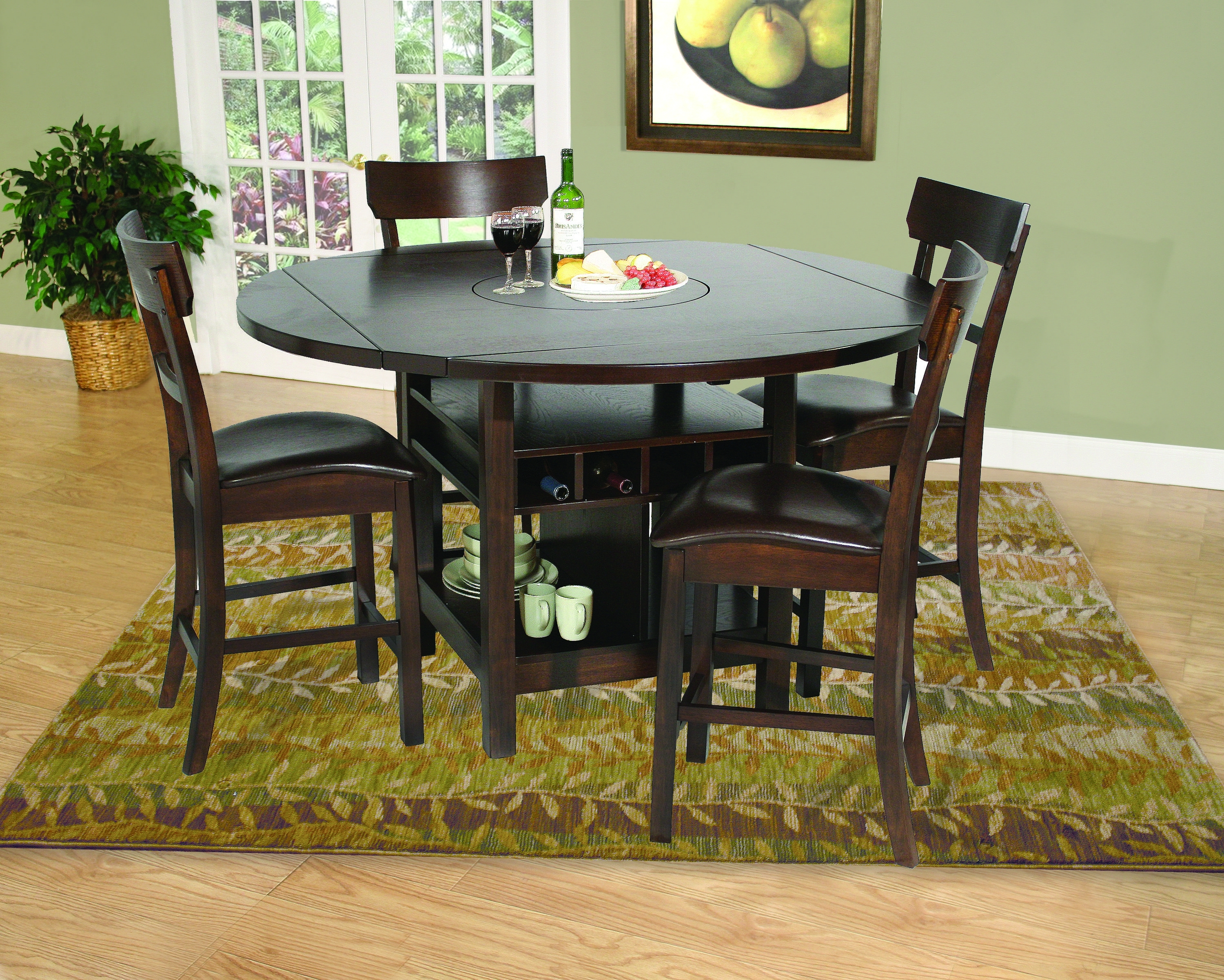 Samantha 5 Piece Pub Set | Home Projects | Pinterest | Drop Leaf With Regard To Current Ina Pewter 60 Inch Counter Tables With Frosted Glass (View 11 of 20)