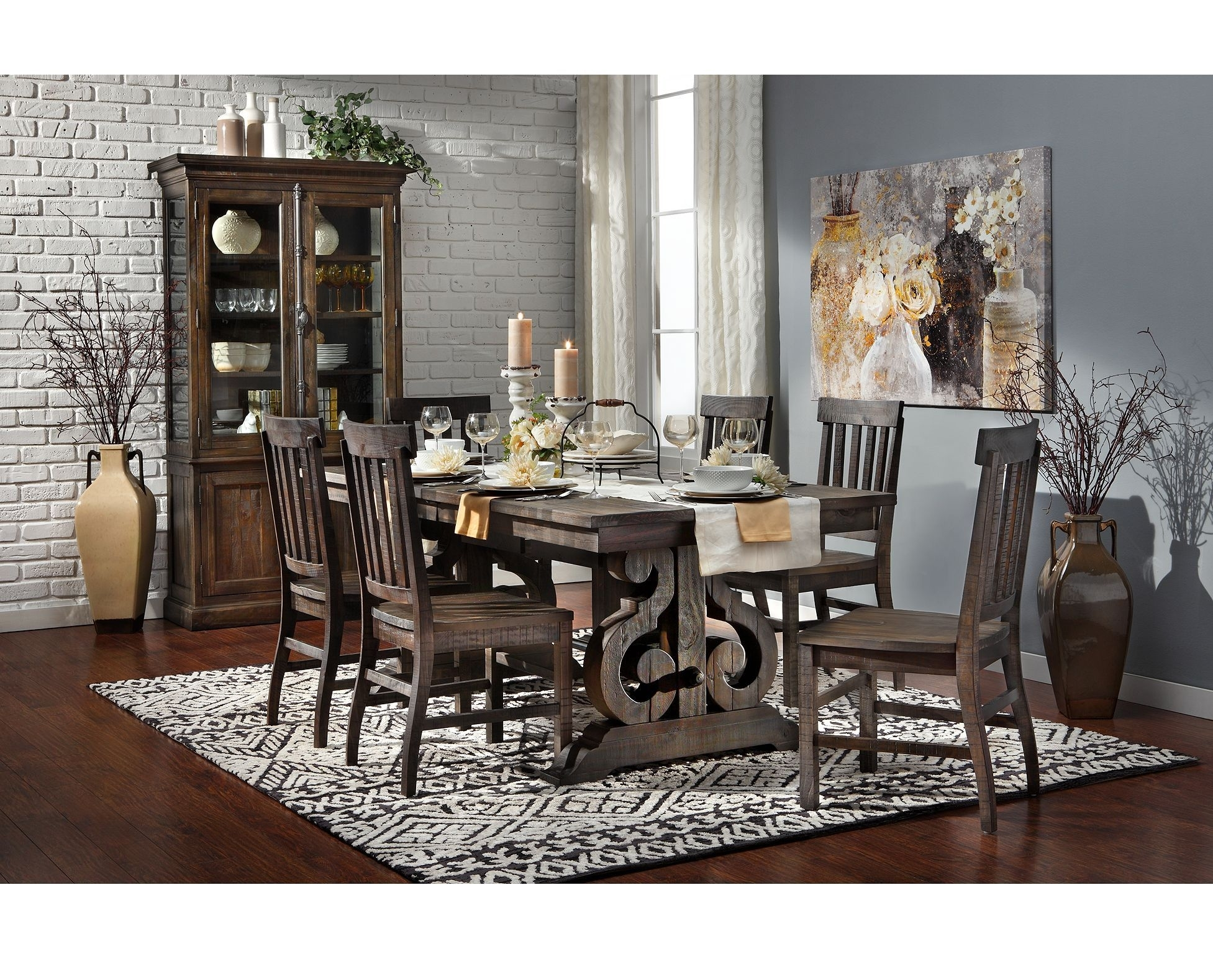 Sedona Dining Table | Dining Room | Pinterest | Dining, Magnolia In Current Candice Ii 7 Piece Extension Rectangular Dining Sets With Slat Back Side Chairs (View 16 of 20)