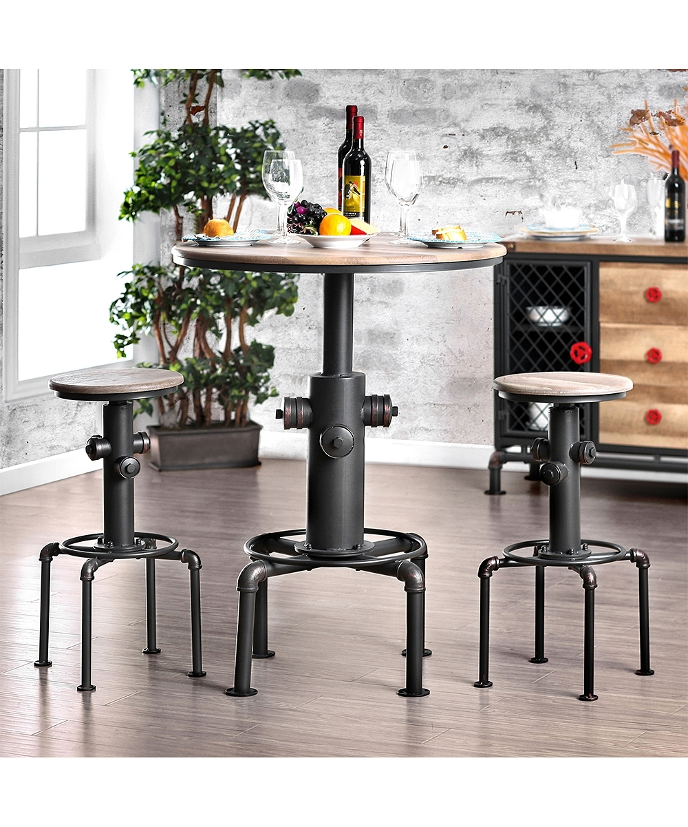 Serendipity Weaver Industrial Bar Table | Zulily Pertaining To Newest Weaver Ii Dining Tables (Image 10 of 20)