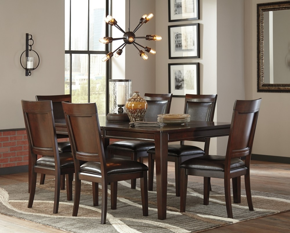 Shadyn Rect Dining Room Ext Table & 6 Uph Side Chairs   D471/35/01(6 Throughout Most Recently Released Market 6 Piece Dining Sets With Side Chairs (View 19 of 20)