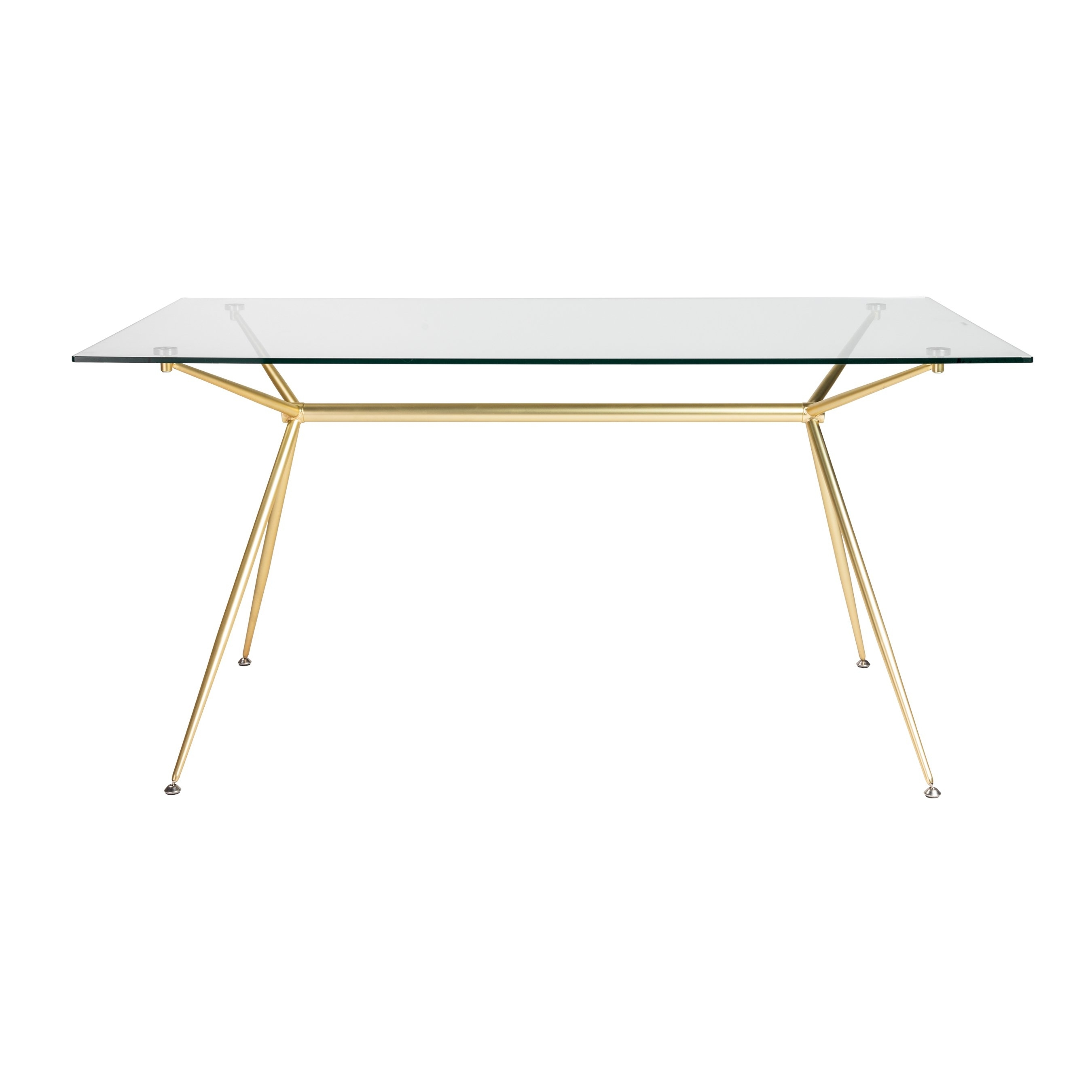 """Shop Atos 60"""" Rectangle Dining Table/desk With Clear Tempered Glass With Most Current Ina Matte Black 60 Inch Counter Tables With Frosted Glass (View 2 of 20)"""