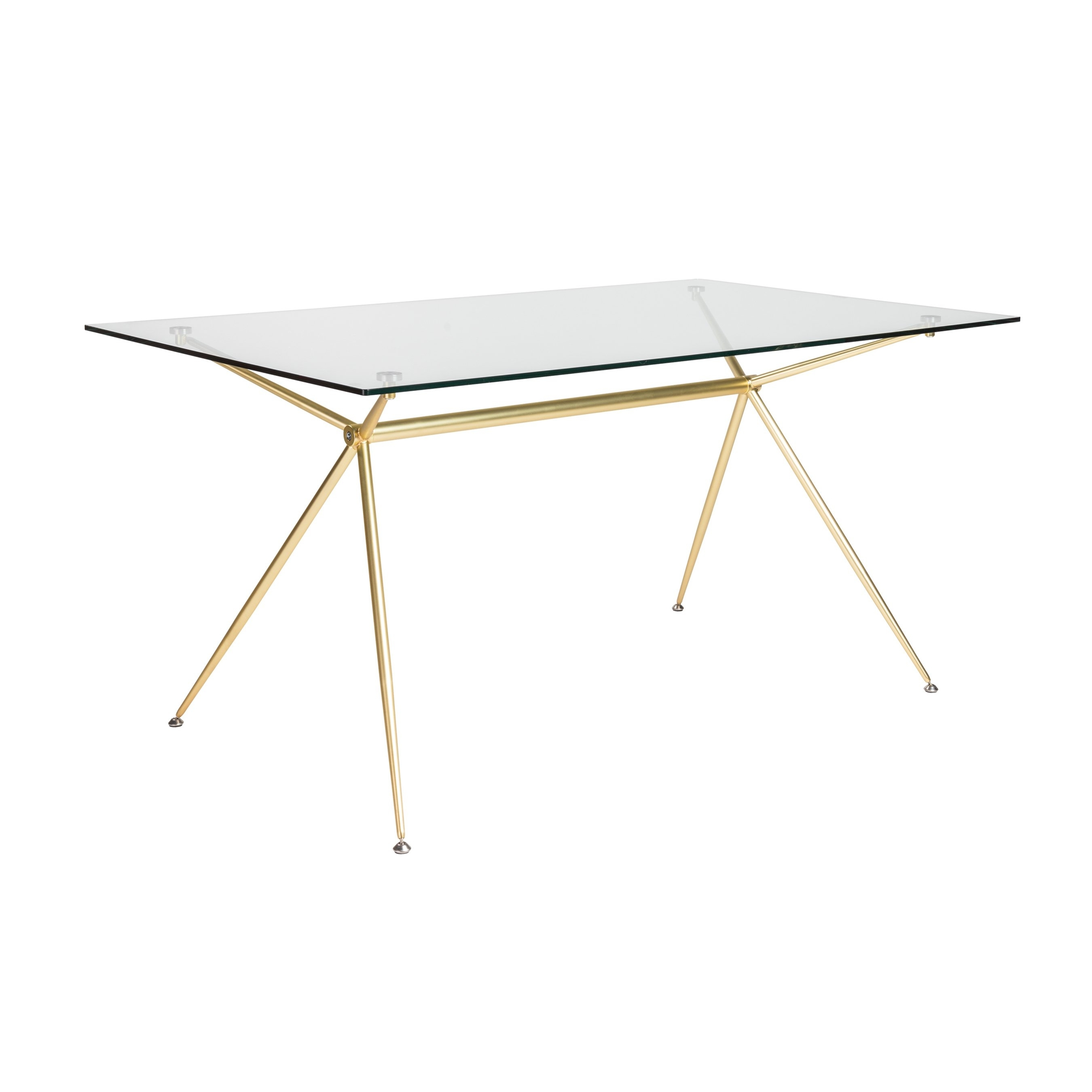 """Shop Atos 60"""" Rectangle Dining Table/desk With Clear Tempered Glass With Most Popular Ina Matte Black 60 Inch Counter Tables With Frosted Glass (View 7 of 20)"""