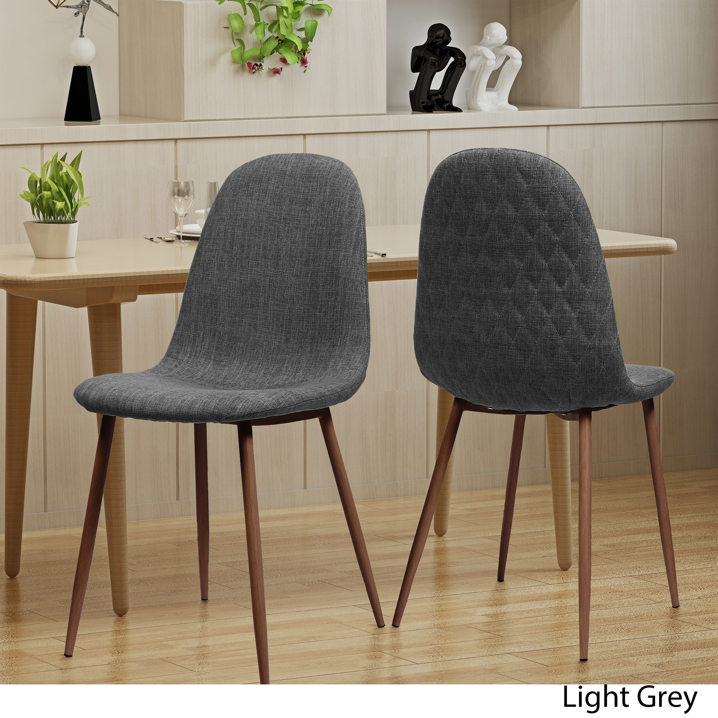 Shop Caden Mid Century Fabric Dining Chair (Set Of 2)Christopher For Recent Caden 5 Piece Round Dining Sets With Upholstered Side Chairs (View 5 of 20)