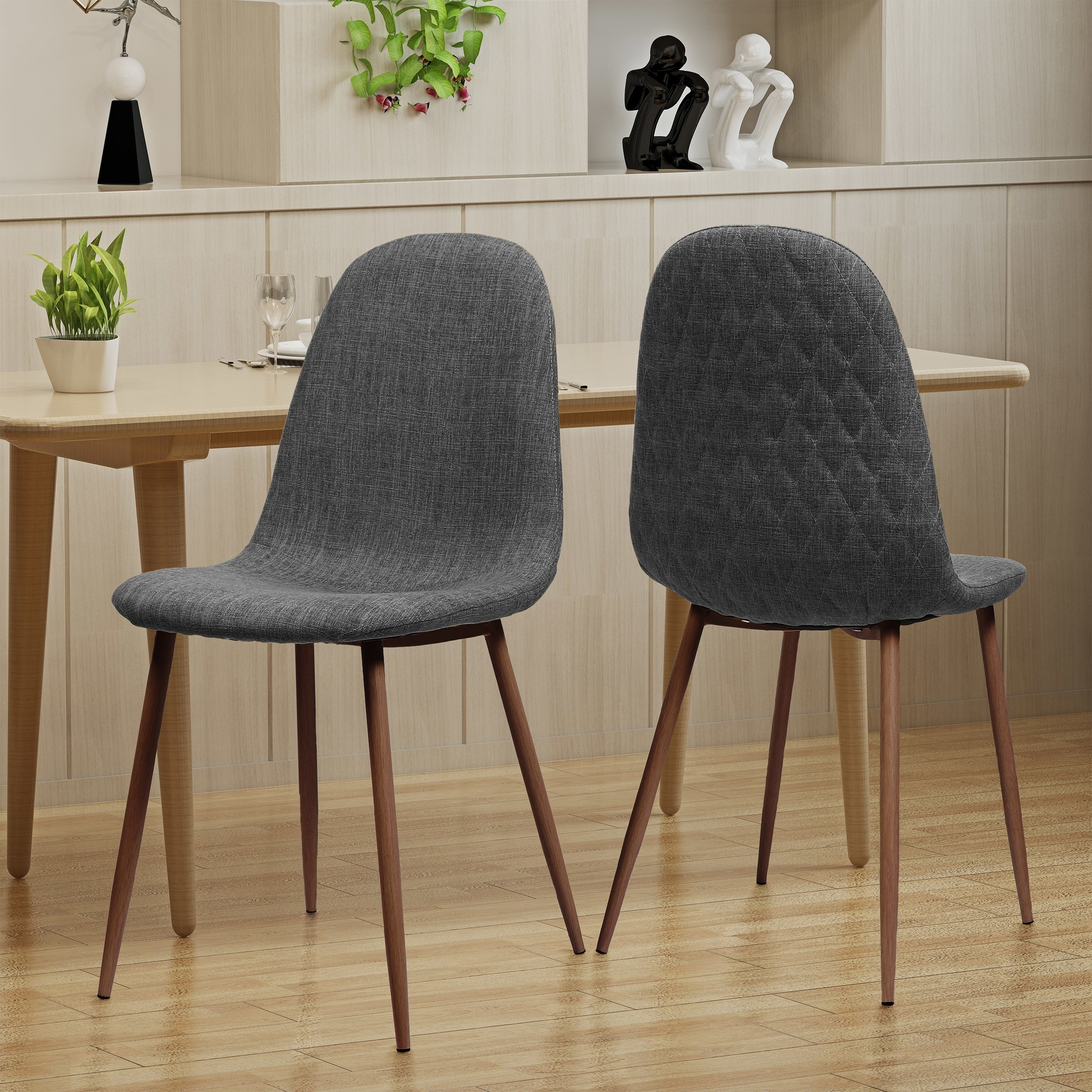 Shop Caden Mid Century Fabric Dining Chair (Set Of 2)Christopher Pertaining To Best And Newest Caden 6 Piece Dining Sets With Upholstered Side Chair (View 2 of 20)
