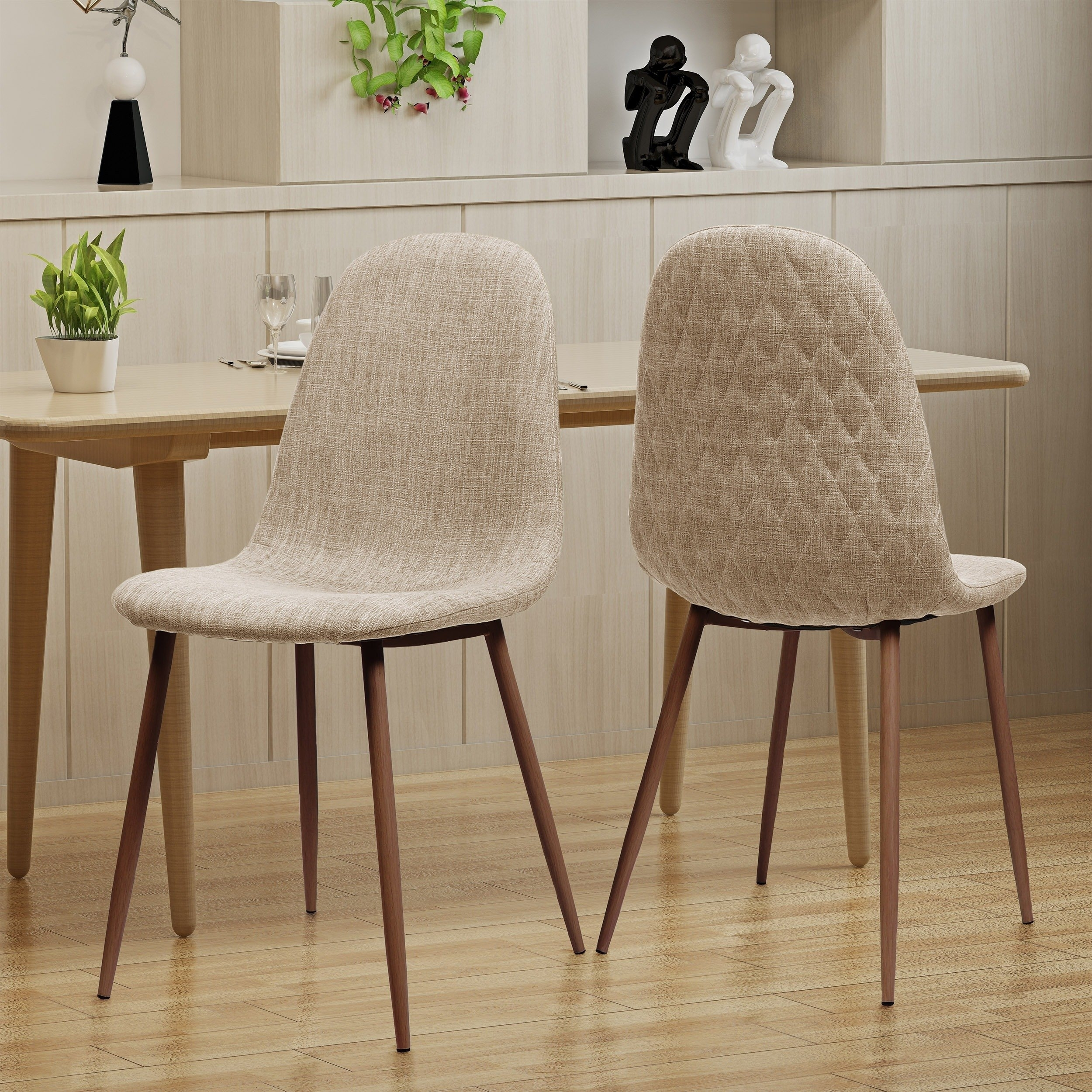 Shop Caden Mid Century Fabric Dining Chair (Set Of 2)Christopher Throughout Newest Caden 7 Piece Dining Sets With Upholstered Side Chair (View 5 of 20)
