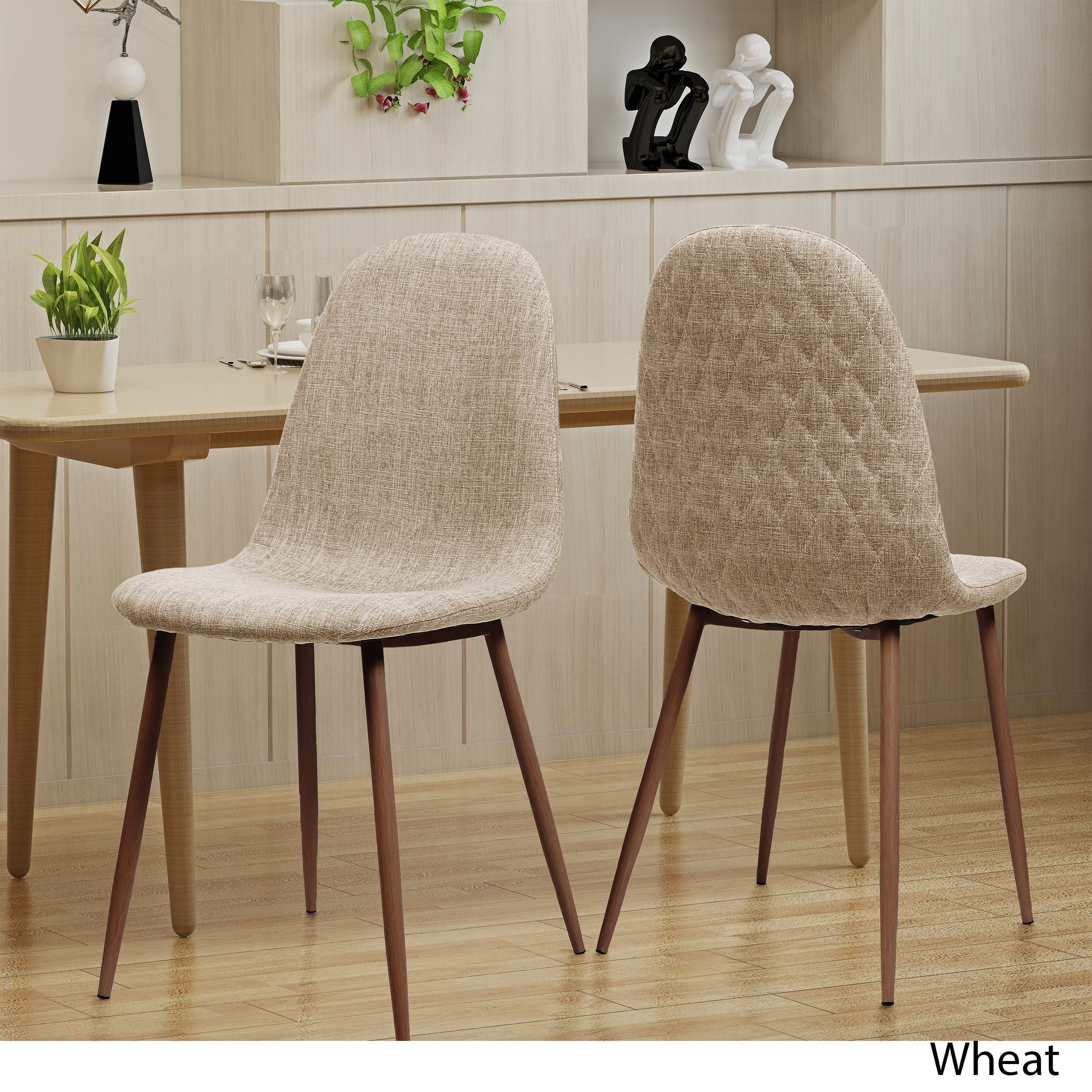 Shop Caden Mid Century Fabric Dining Chair (Set Of 2)Christopher Within Recent Caden 6 Piece Dining Sets With Upholstered Side Chair (View 3 of 20)