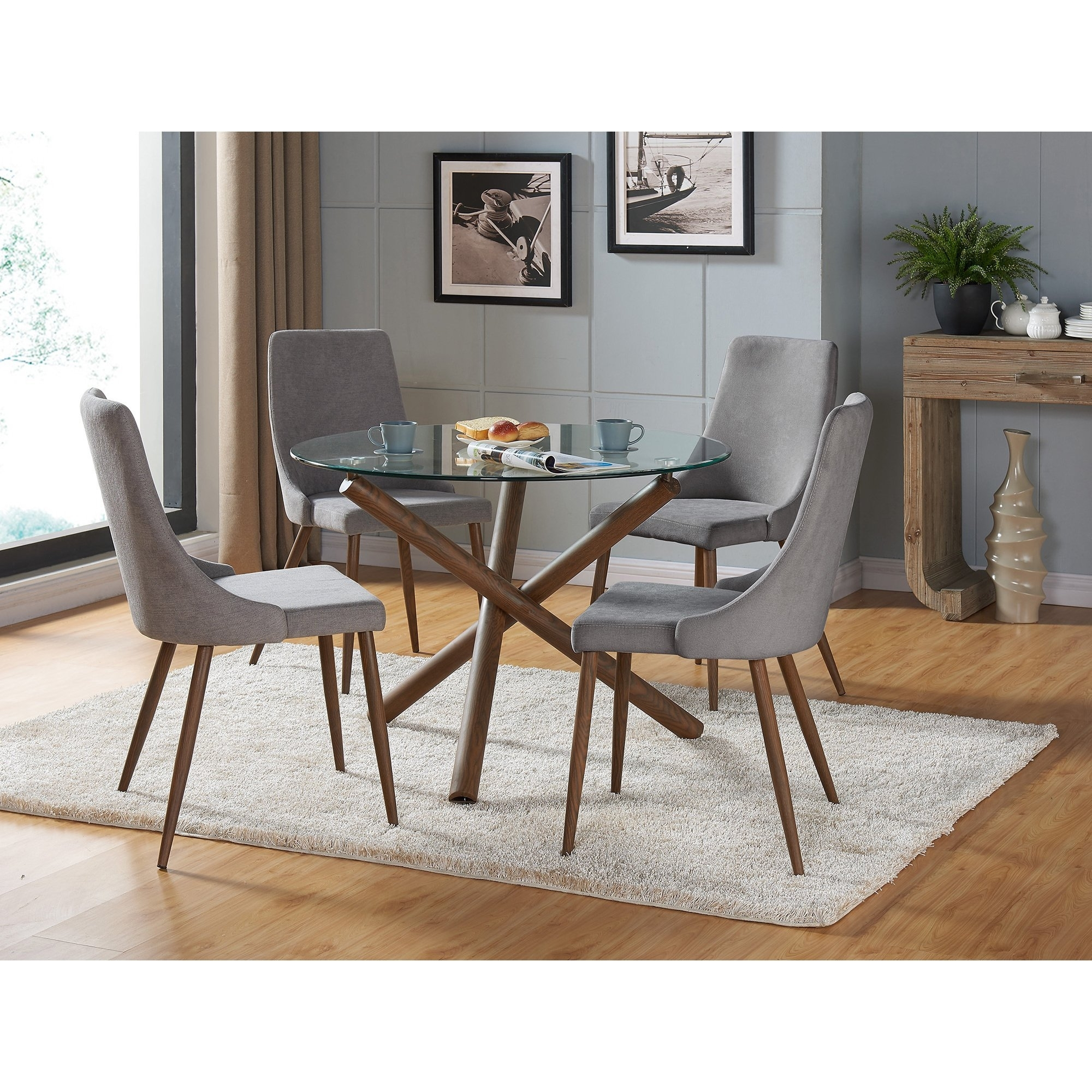 Shop Carson Carrington Kaskinen Dining Chair (Set Of 2) – Free In Newest Cora 5 Piece Dining Sets (Image 17 of 20)
