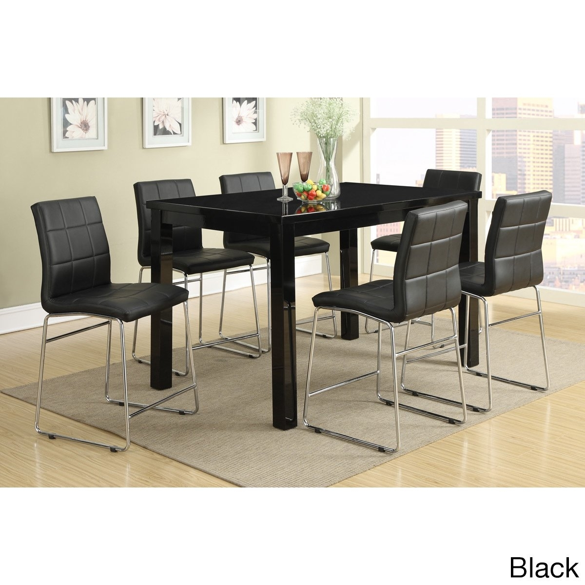 Shop Chandler 7 Piece Counter Height Dining Set – Free Shipping For Most Popular Chandler 7 Piece Extension Dining Sets With Wood Side Chairs (Image 19 of 20)