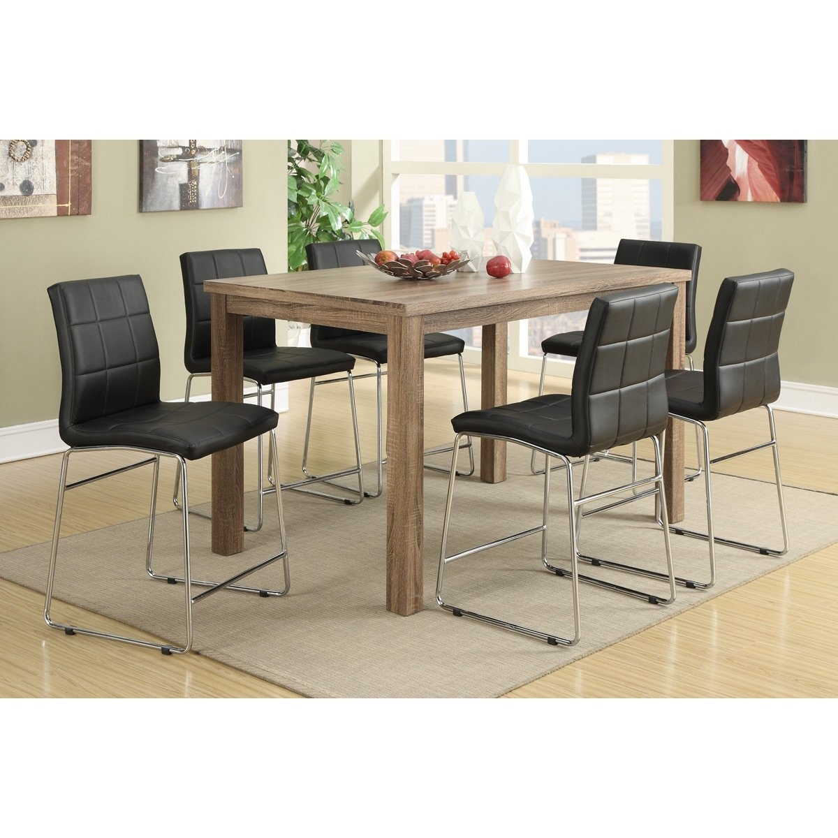Shop Chandler 7 Piece Counter Height Dining Set – Free Shipping With 2017 Chandler 7 Piece Extension Dining Sets With Fabric Side Chairs (View 3 of 20)