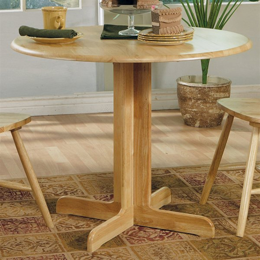 Shop Coaster Fine Furniture Wood Round Extending Dining Table At Intended For 2017 Helms Round Dining Tables (View 9 of 20)