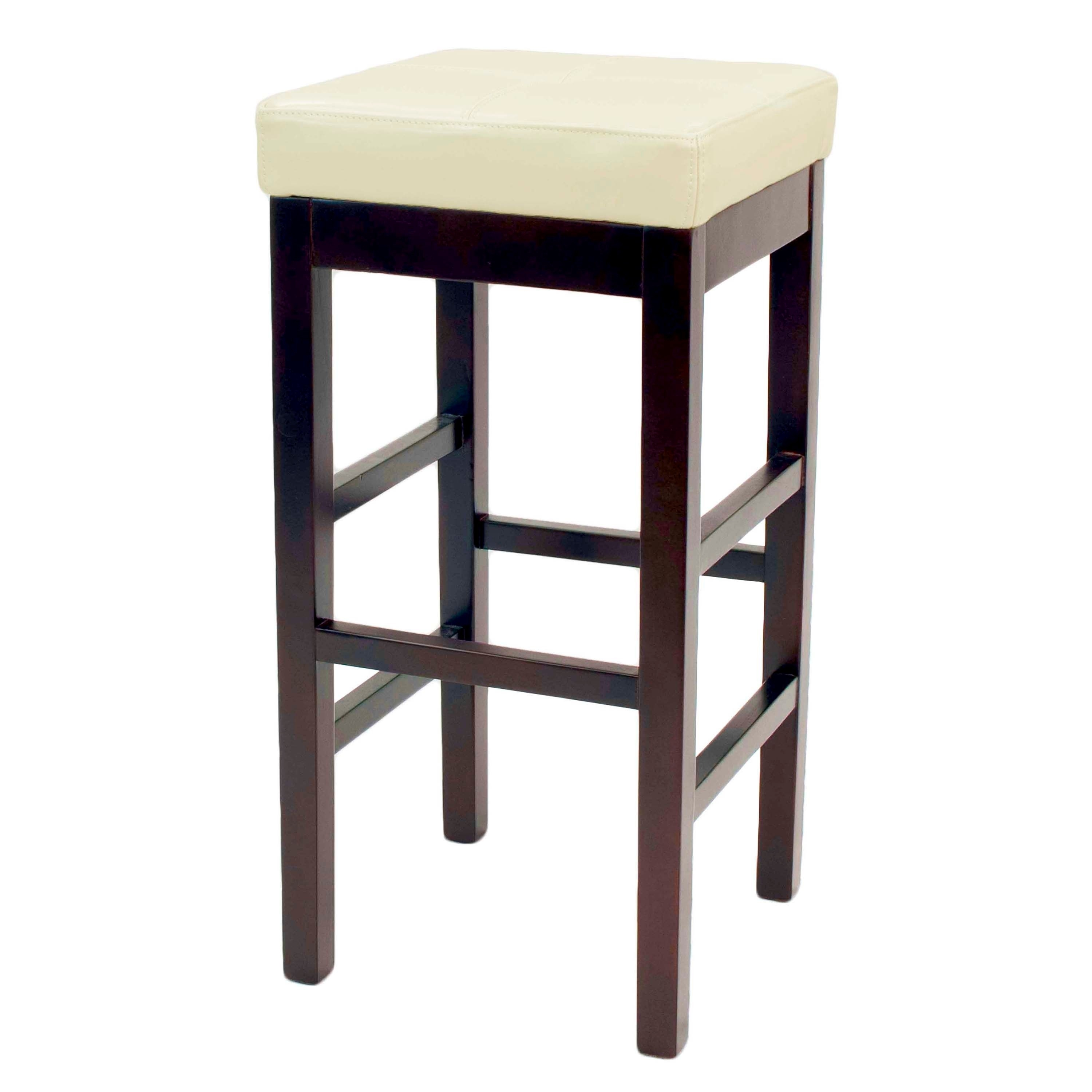 Shop Copper Grove Pennyrile Backless Leather Counter Stool – Free In Most Recently Released Valencia 5 Piece Counter Sets With Counterstool (View 18 of 20)