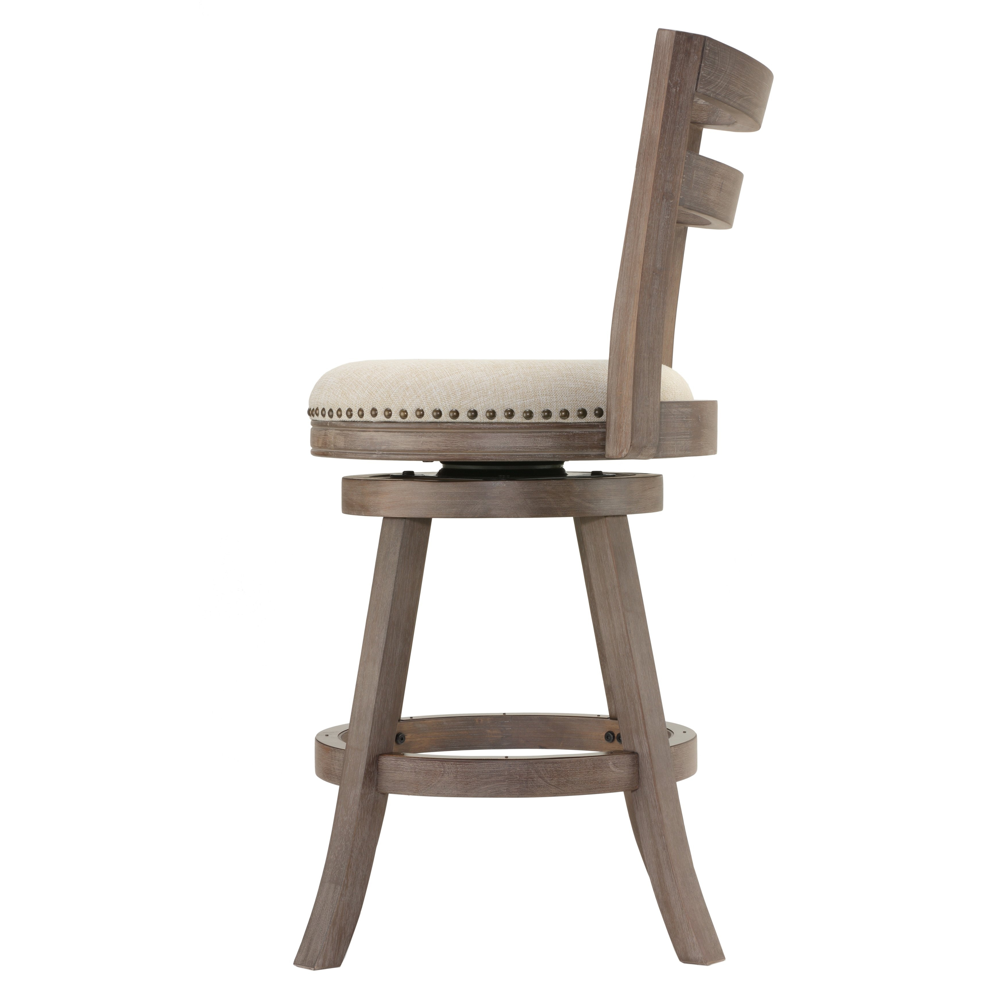 Shop Cortesi Home Harper Beige Fabric Swivel Seat Counter Stool With Throughout Most Current Harper 5 Piece Counter Sets (Image 13 of 20)