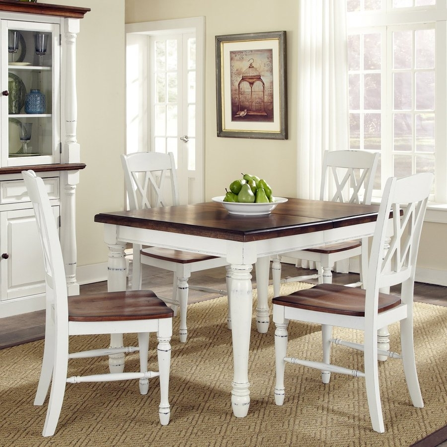 Shop Dining Sets At Lowes In Most Current Craftsman 5 Piece Round Dining Sets With Side Chairs (Image 16 of 20)