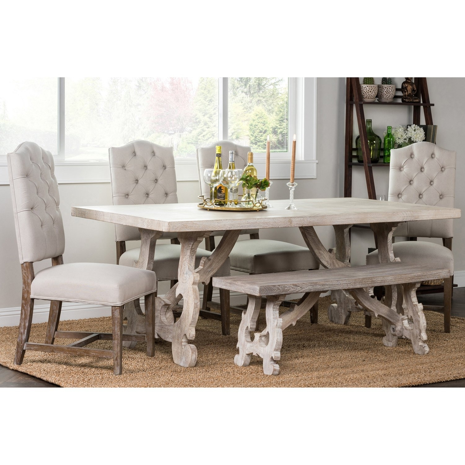 Shop Elliott Rustic Hand Crafted 76 Inch Dining Tablekosas Home For Most Recent 87 Inch Dining Tables (View 17 of 20)