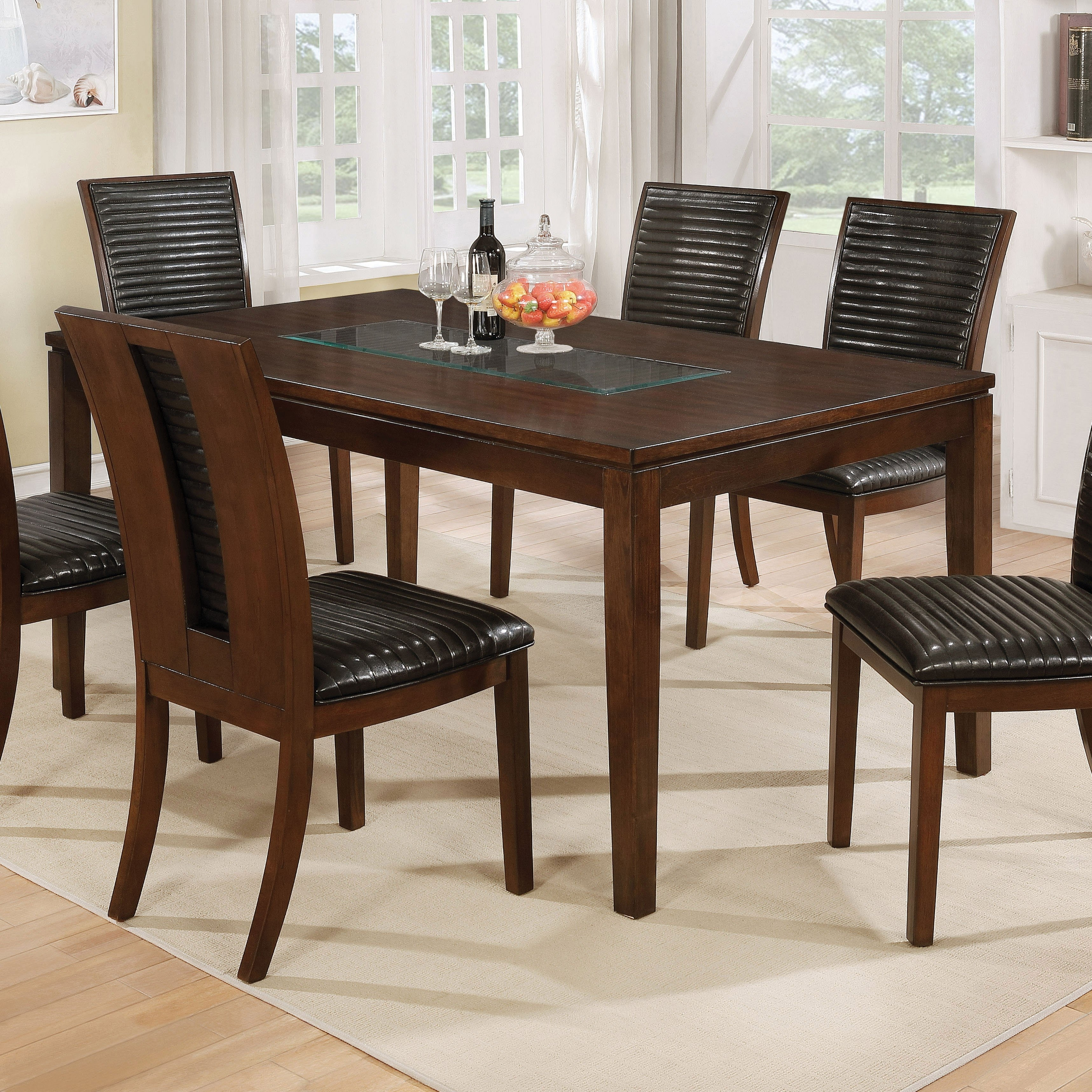 Shop Furniture Of America Gileon Transitional Walnut 66 Inch Dining Inside 2017 Leon Dining Tables (View 15 of 20)