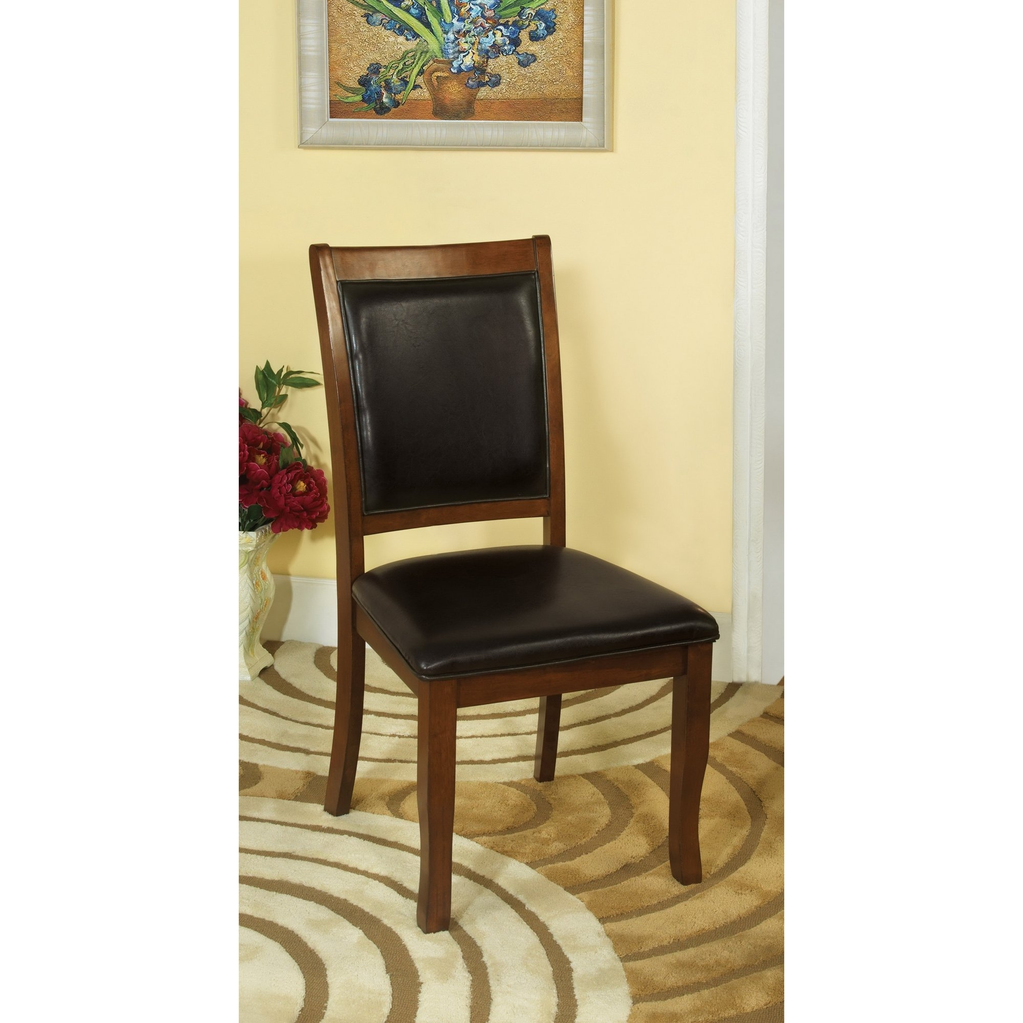 Shop Furniture Of America Kristen 5 Piece Brown Cherry Dining Set Intended For Recent Kirsten 5 Piece Dining Sets (Image 19 of 20)