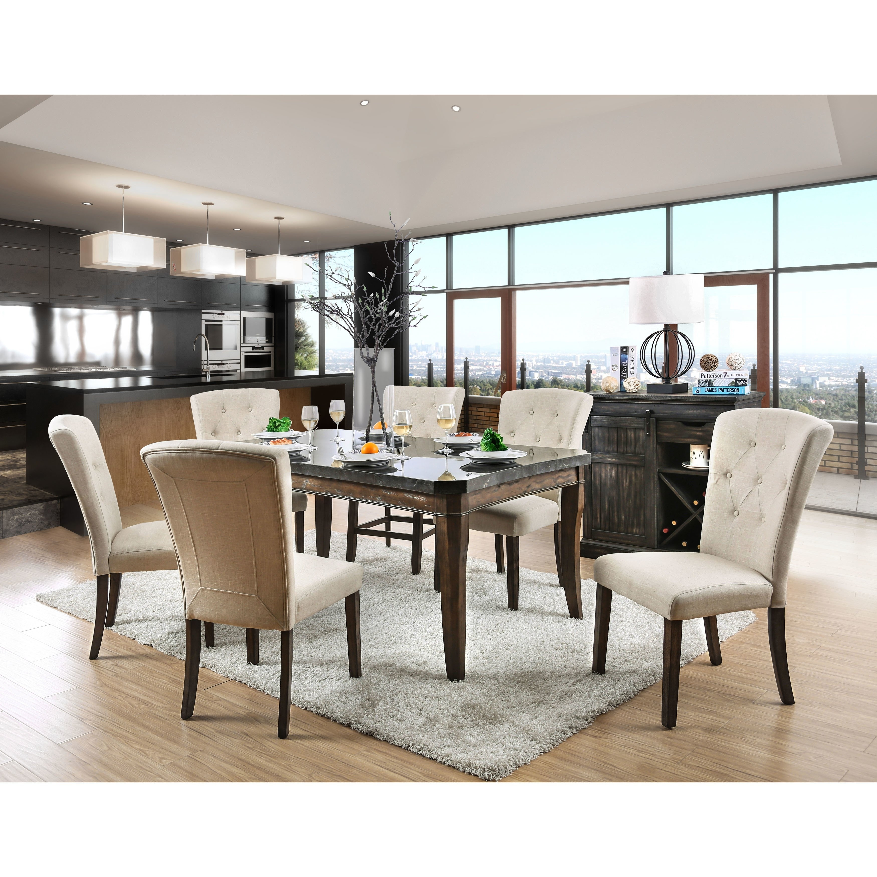 Furniture Of America Dubelle 7 Piece Formal Dining Set: 20 Photos Patterson 6 Piece Dining Sets