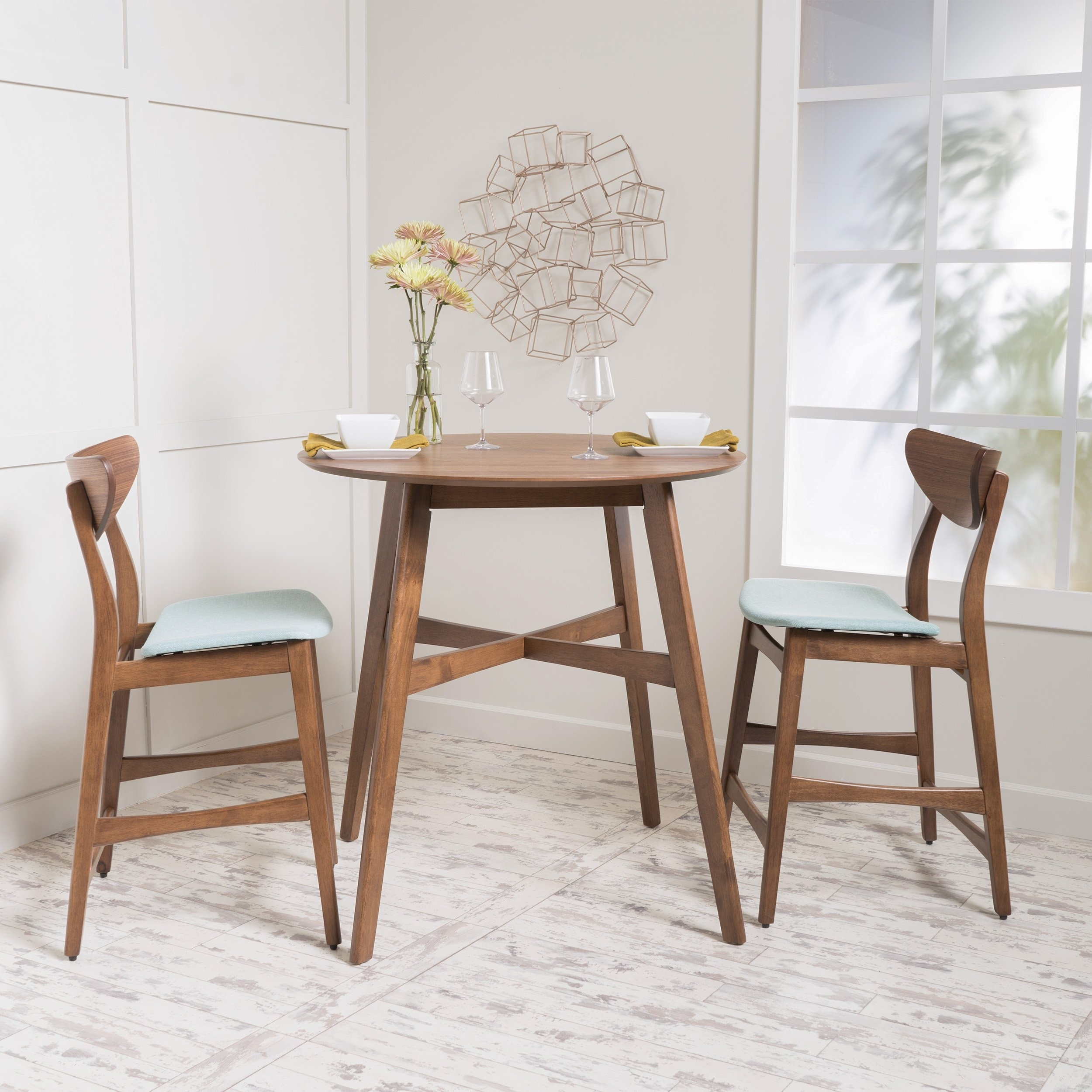 Shop Gavin 3 Piece Wood Counter Height Round Dining Set Intended For Best And Newest Gavin Dining Tables (View 12 of 20)