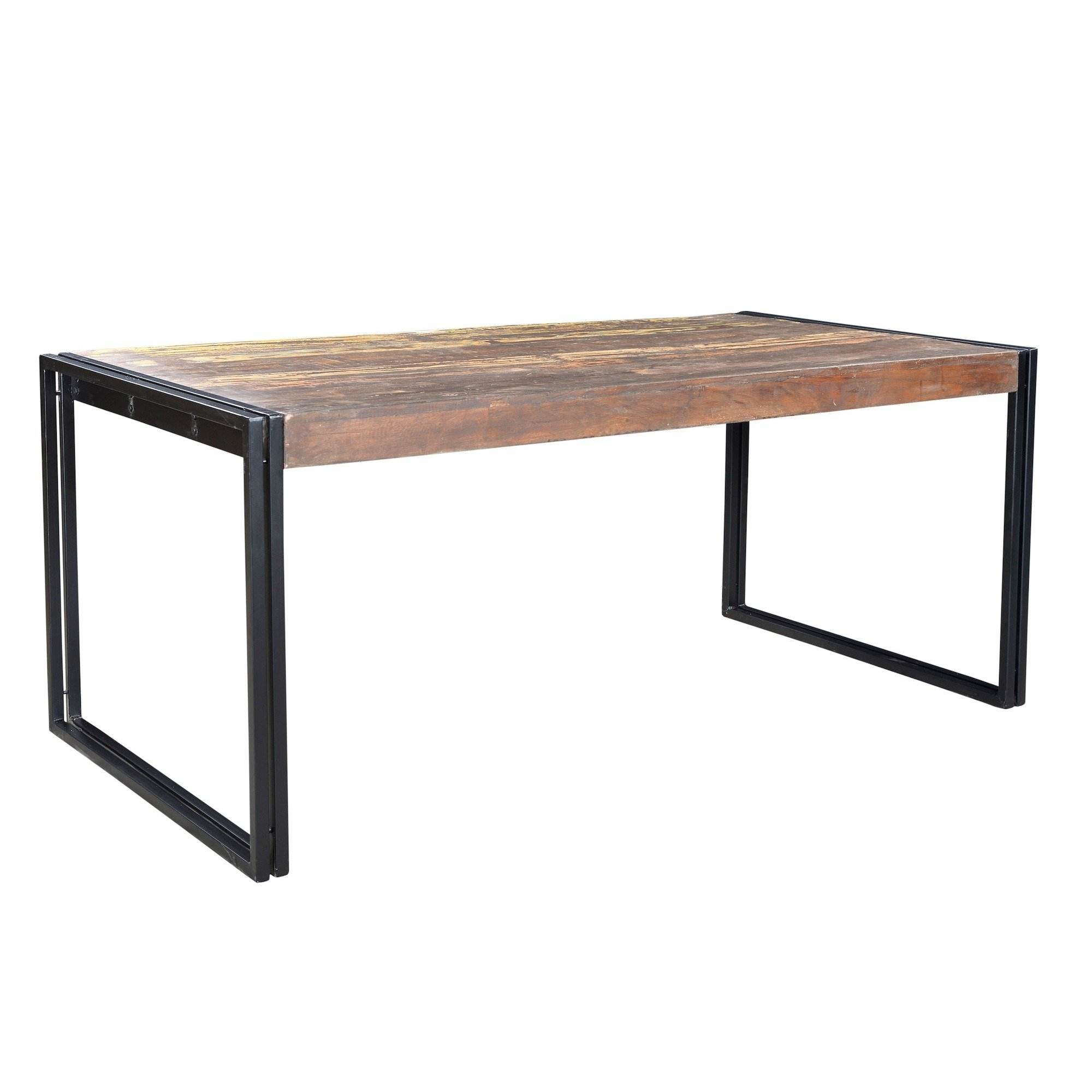 Shop Handmade Timbergirl Old Reclaimed Wood Dining Table With Iron Within Best And Newest Iron And Wood Dining Tables (View 19 of 20)