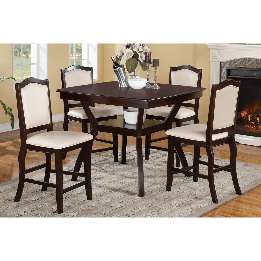 Shop Hanz Tuly 5 Piece Counter High Dining Set – On Sale – Free Regarding Current Harper 5 Piece Counter Sets (Image 14 of 20)