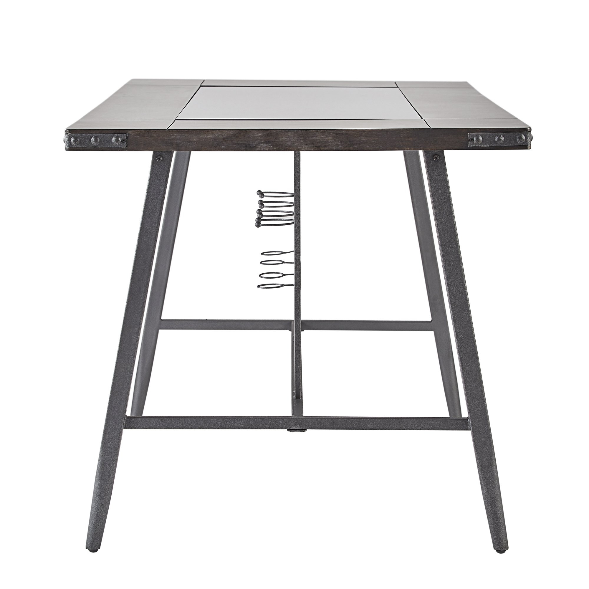 Shop Harley Counter Height Dining Table With Wine Rackinspire Q Pertaining To Current Ina Matte Black 60 Inch Counter Tables With Frosted Glass (View 9 of 20)