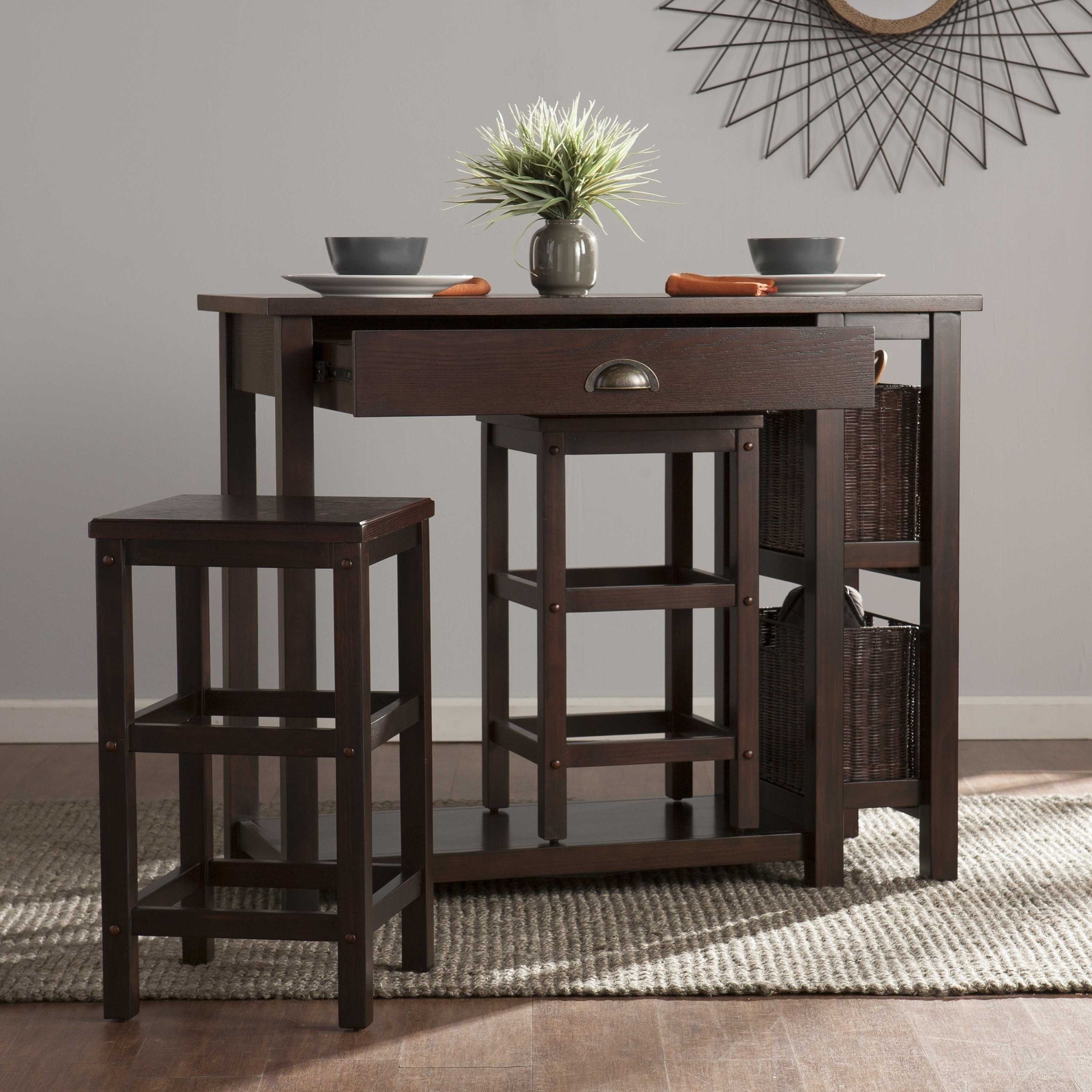 Shop Harper Blvd Benson 3 Piece Breakfast Set – Free Shipping Today Throughout Most Recent Harper 5 Piece Counter Sets (Image 15 of 20)