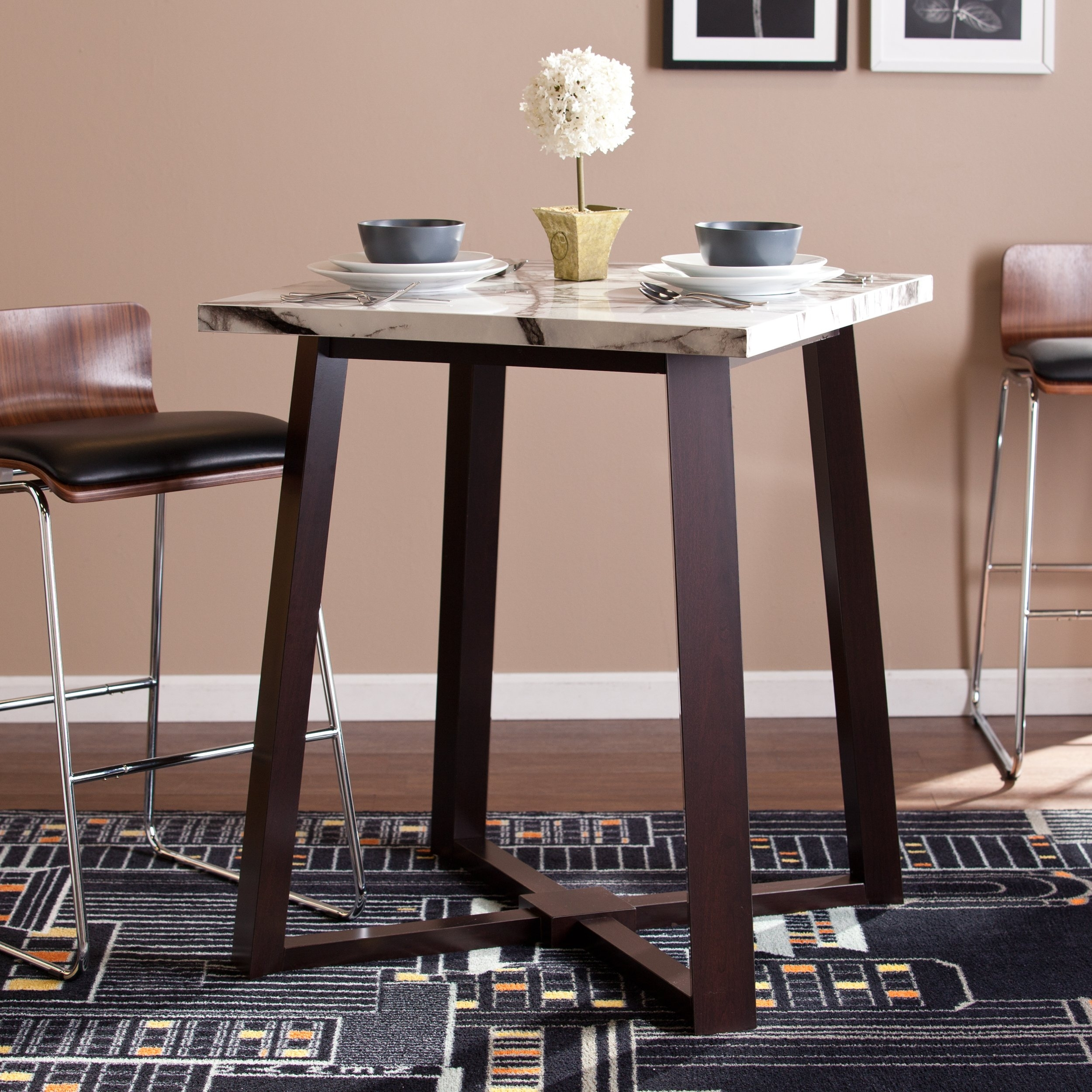 Shop Harper Blvd Lewiston Counter Height Dining Table – Free With Regard To Best And Newest Harper 5 Piece Counter Sets (Image 16 of 20)