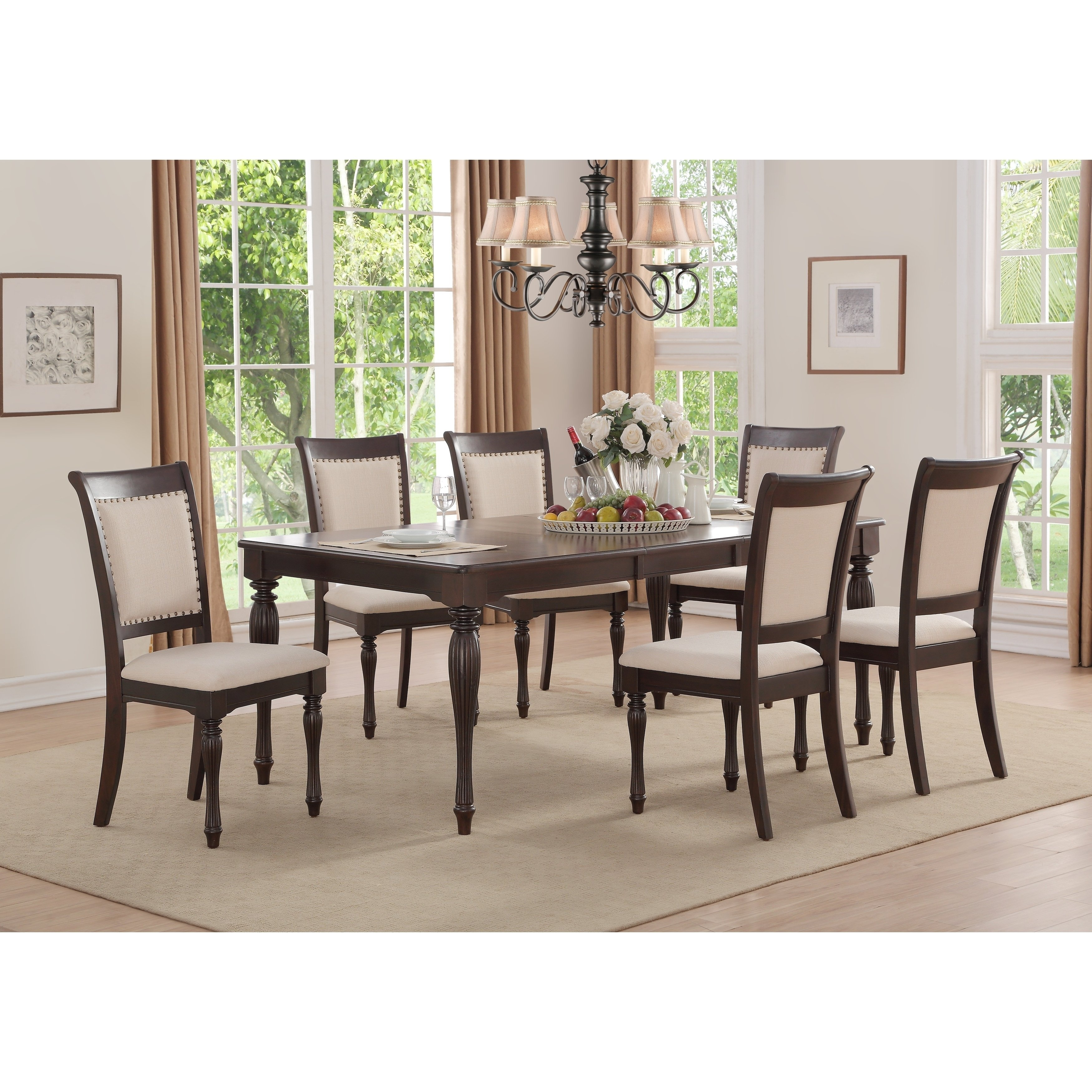 Shop Home Source Penelope Ivory 5 Piece Dining Set With 1 Table And Inside Most Popular Caden 6 Piece Rectangle Dining Sets (Image 17 of 20)