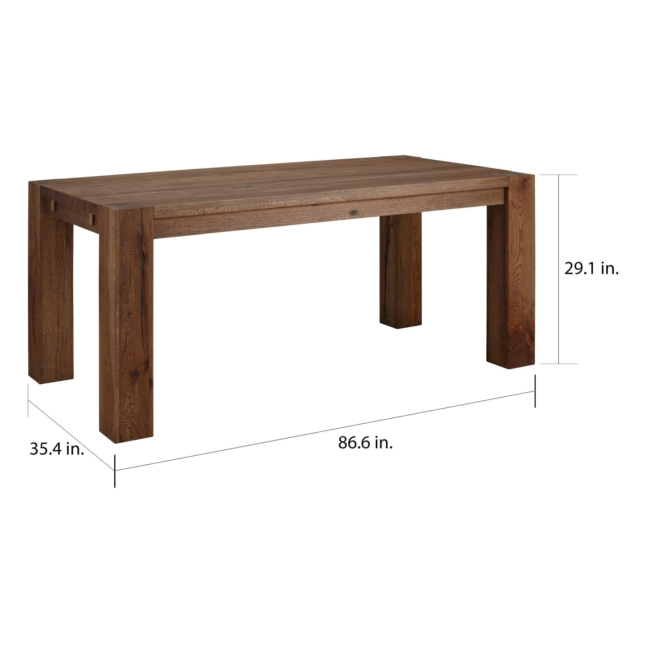 Shop Matrix 87 Inch Wild Oak Dining Table, Smoked – On Sale – Free With Best And Newest 87 Inch Dining Tables (View 7 of 20)