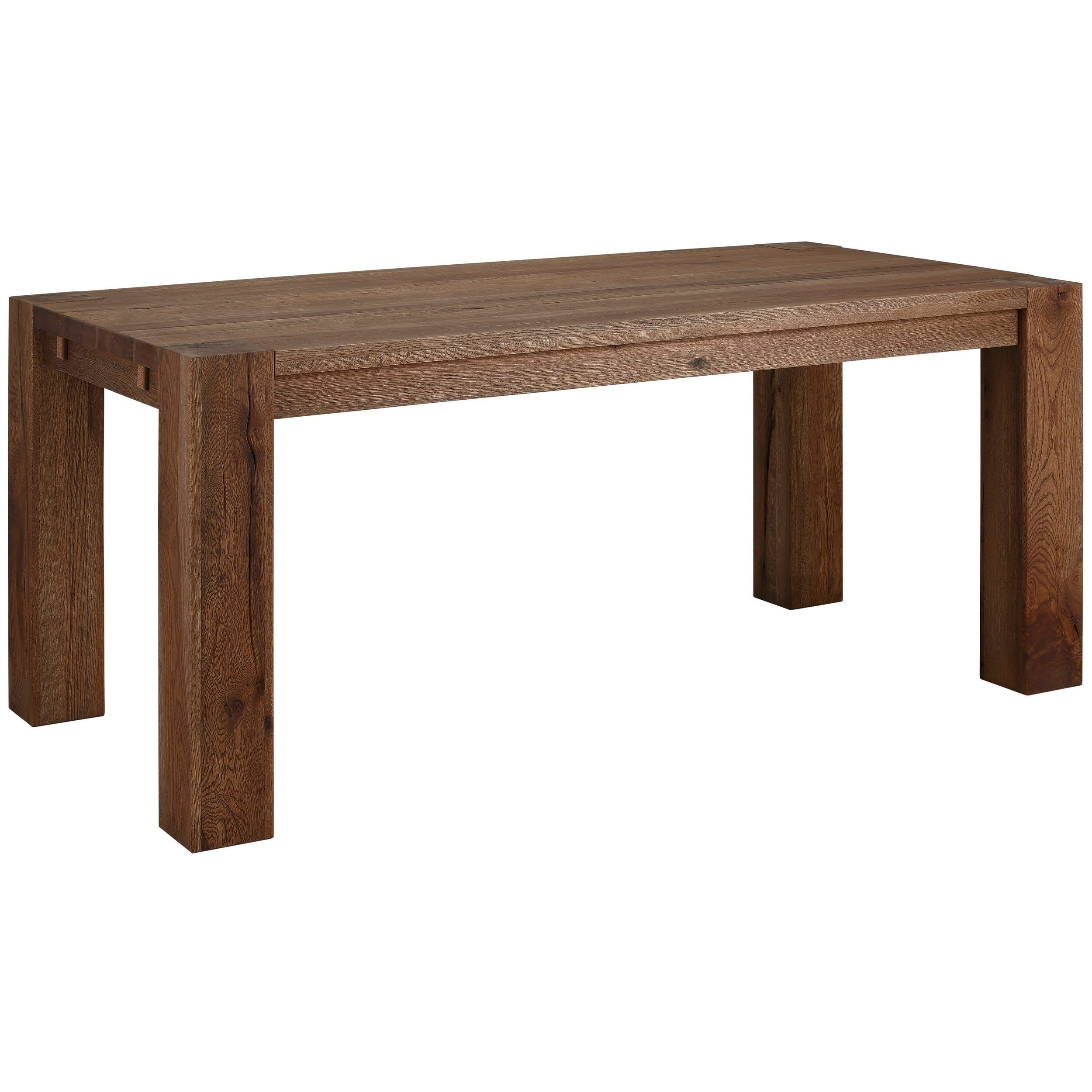 Shop Matrix 87 Inch Wild Oak Dining Table, Smoked – On Sale – Free Within 2017 87 Inch Dining Tables (View 11 of 20)