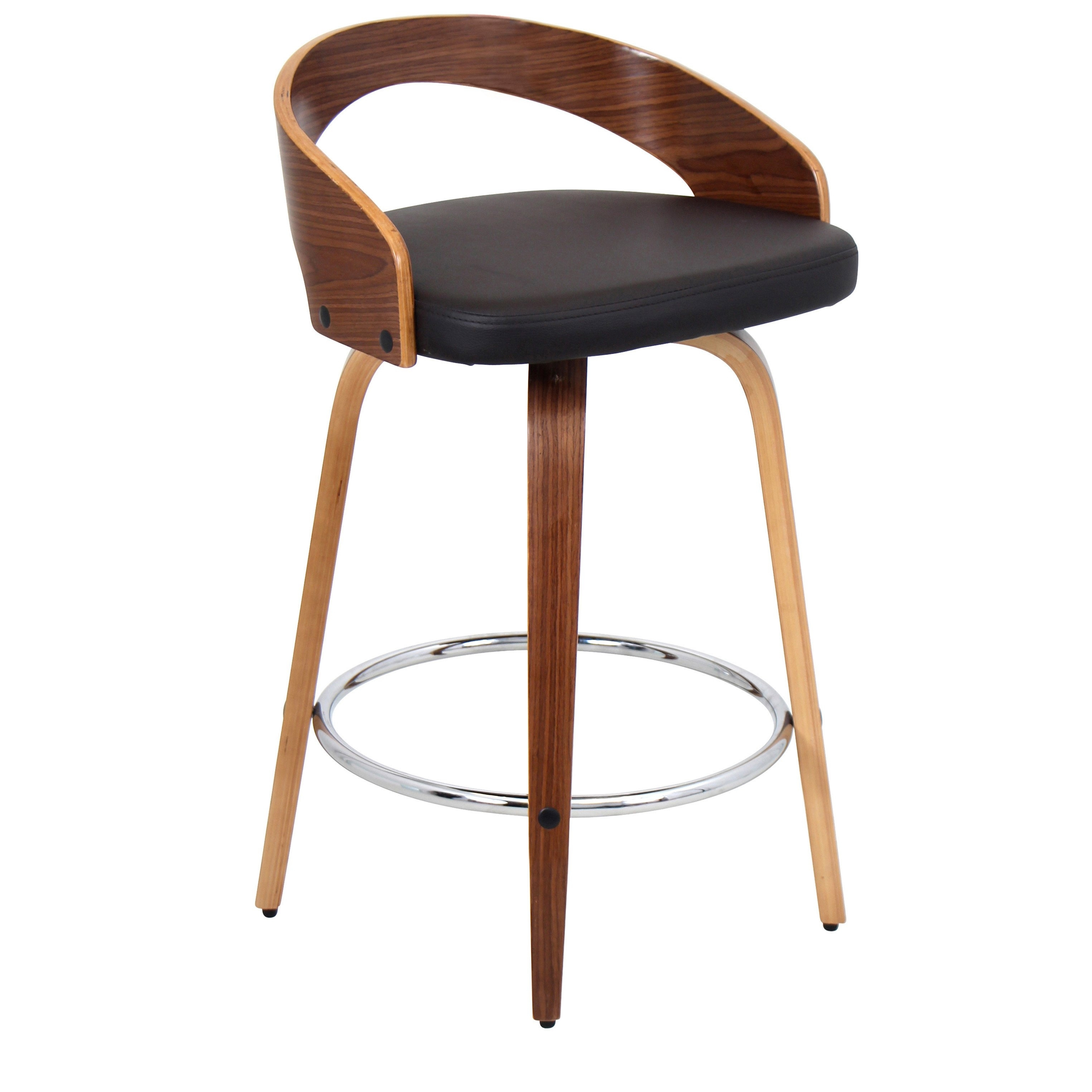 Shop Palm Canyon Valencia Faux Leather Mid Century Modern Counter In Best And Newest Valencia 4 Piece Counter Sets With Bench & Counterstool (View 5 of 20)