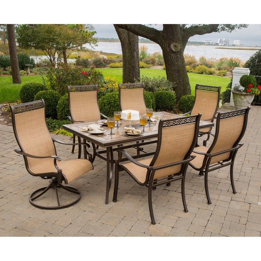 Shop Patio Dining Sets At Lowes In Most Recently Released Valencia 3 Piece Counter Sets With Bench (Image 10 of 20)