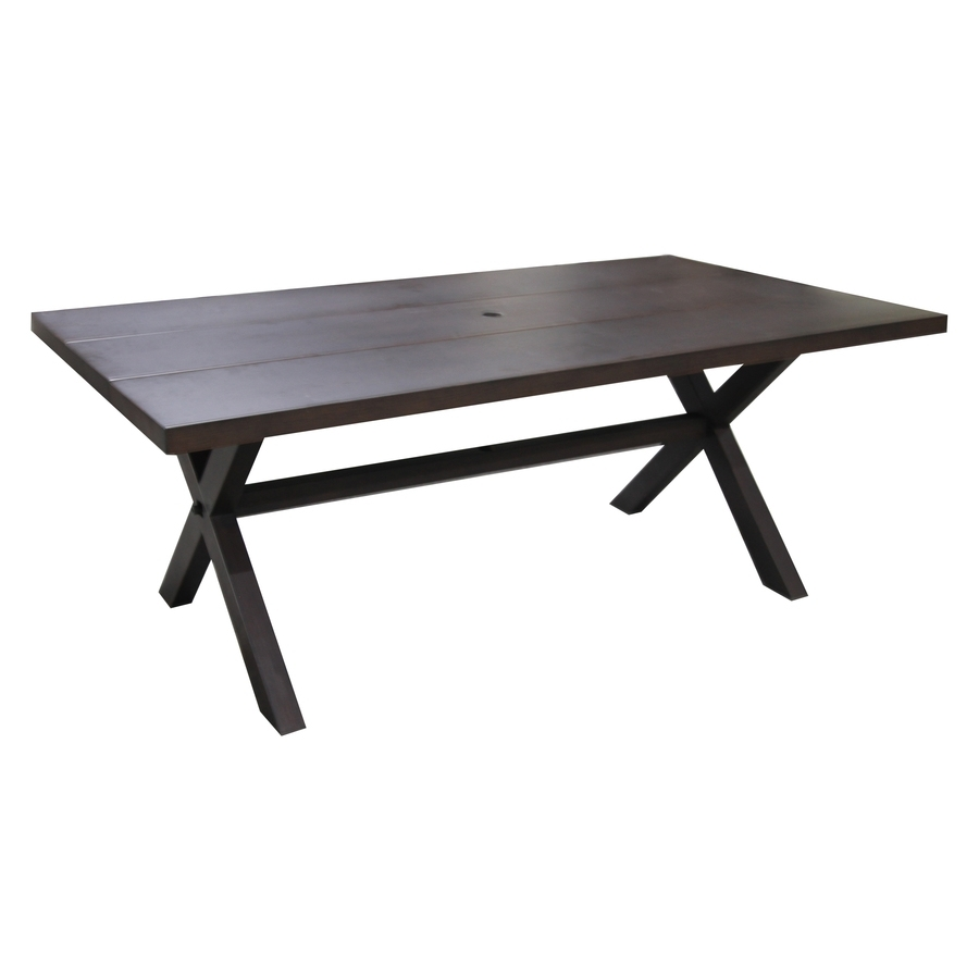 Shop Patio Tables At Lowes With Latest Ina Matte Black 60 Inch Counter Tables With Frosted Glass (Image 18 of 20)