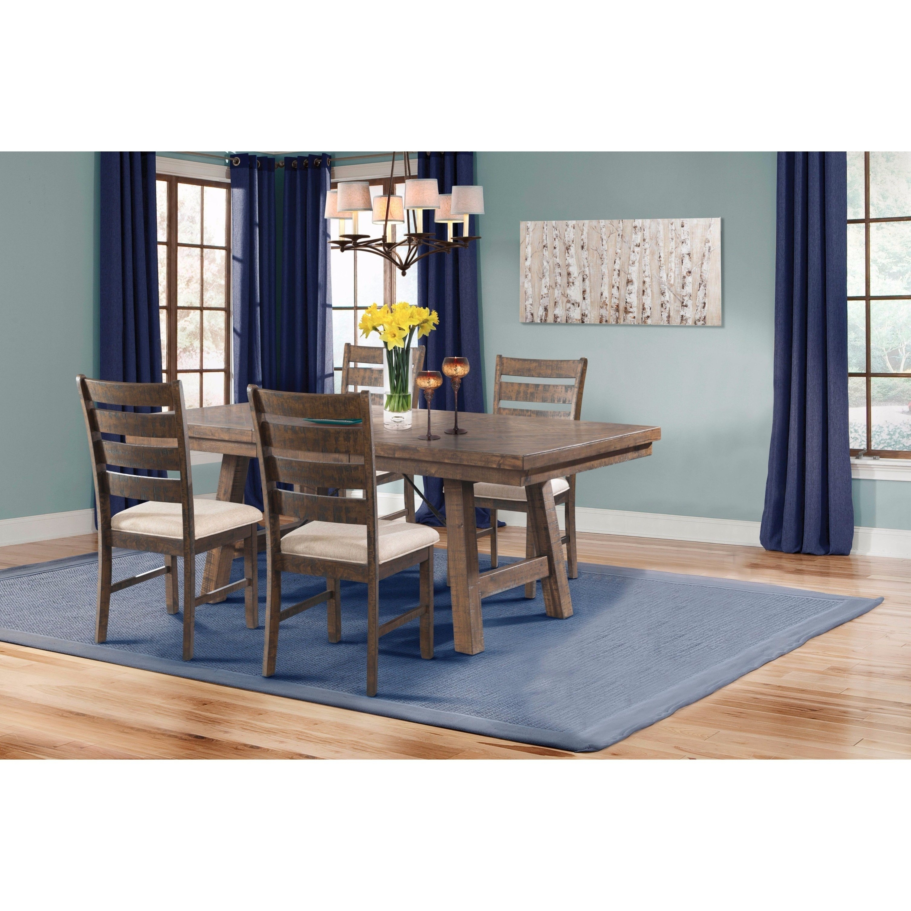 Shop Picket House Furnishings Dex 5Pc Dining Set Table, 4 Ladder For 2018 Caden 6 Piece Dining Sets With Upholstered Side Chair (View 10 of 20)