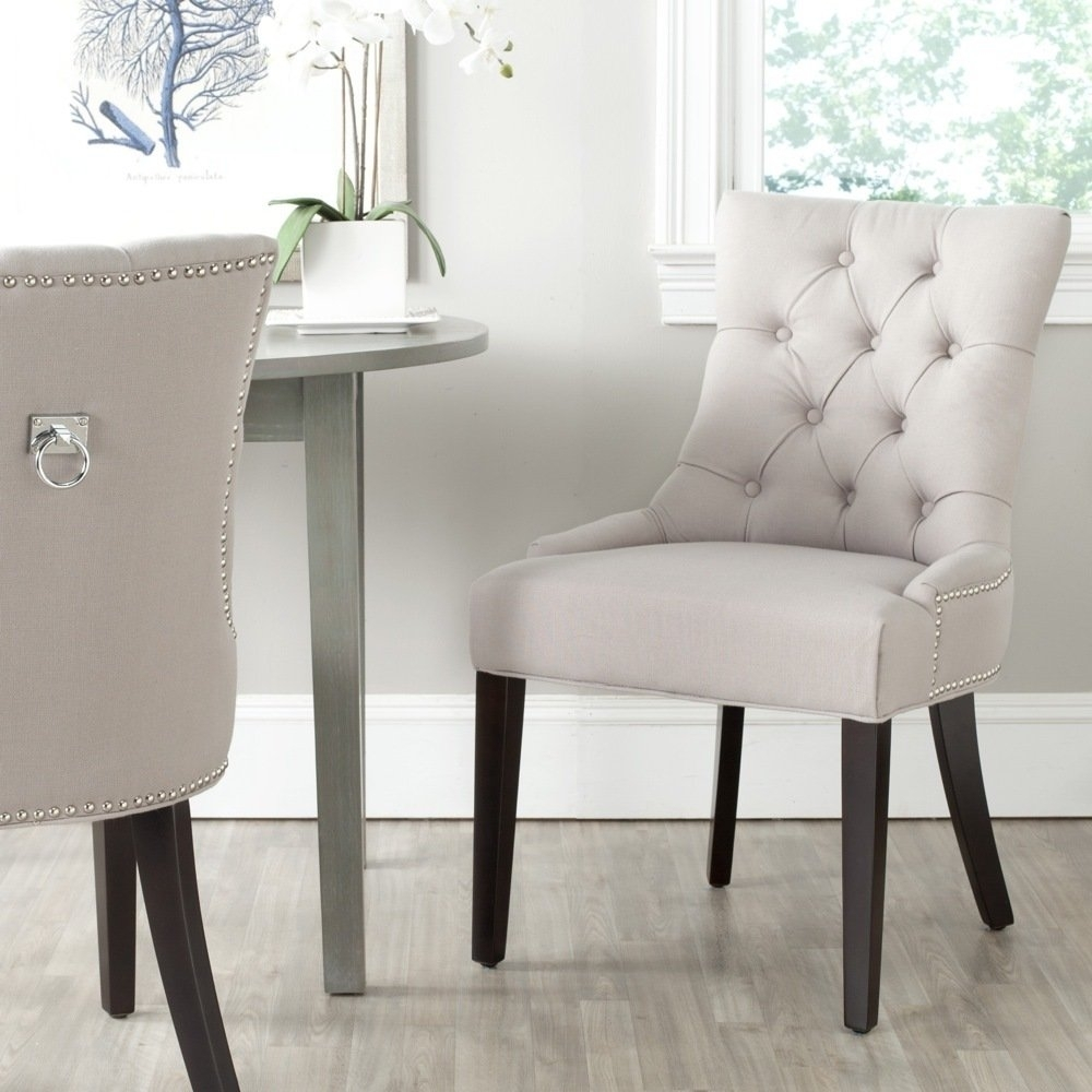 Shop Safavieh Harlow Grey Ring Chair (Set Of 2) – On Sale – Free Throughout Current Caira Black 7 Piece Dining Sets With Arm Chairs & Diamond Back Chairs (View 7 of 20)