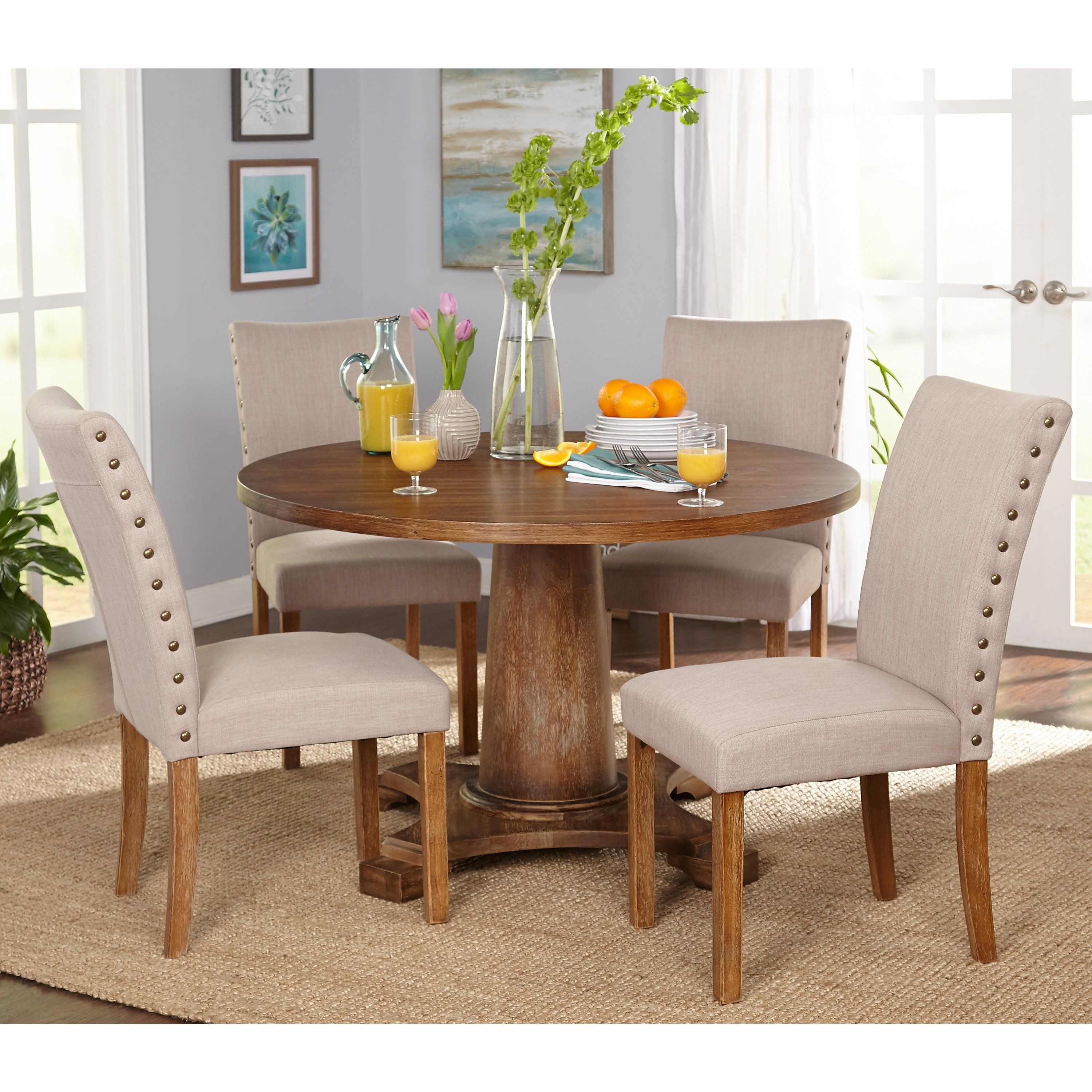 Shop Simple Living 5 Piece Atwood Dining Set – Free Shipping Today Inside 2017 Harper 5 Piece Counter Sets (View 17 of 20)