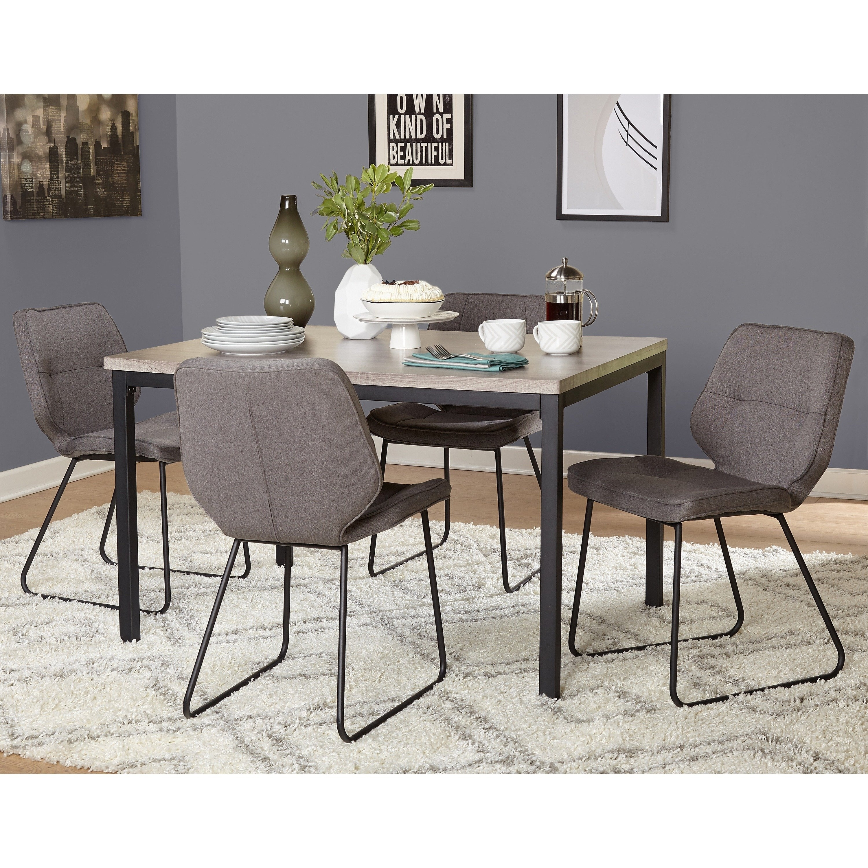 Shop Simple Living 5 Piece Kaden Dining Set – Free Shipping Today Inside Recent Caden 6 Piece Rectangle Dining Sets (Image 18 of 20)