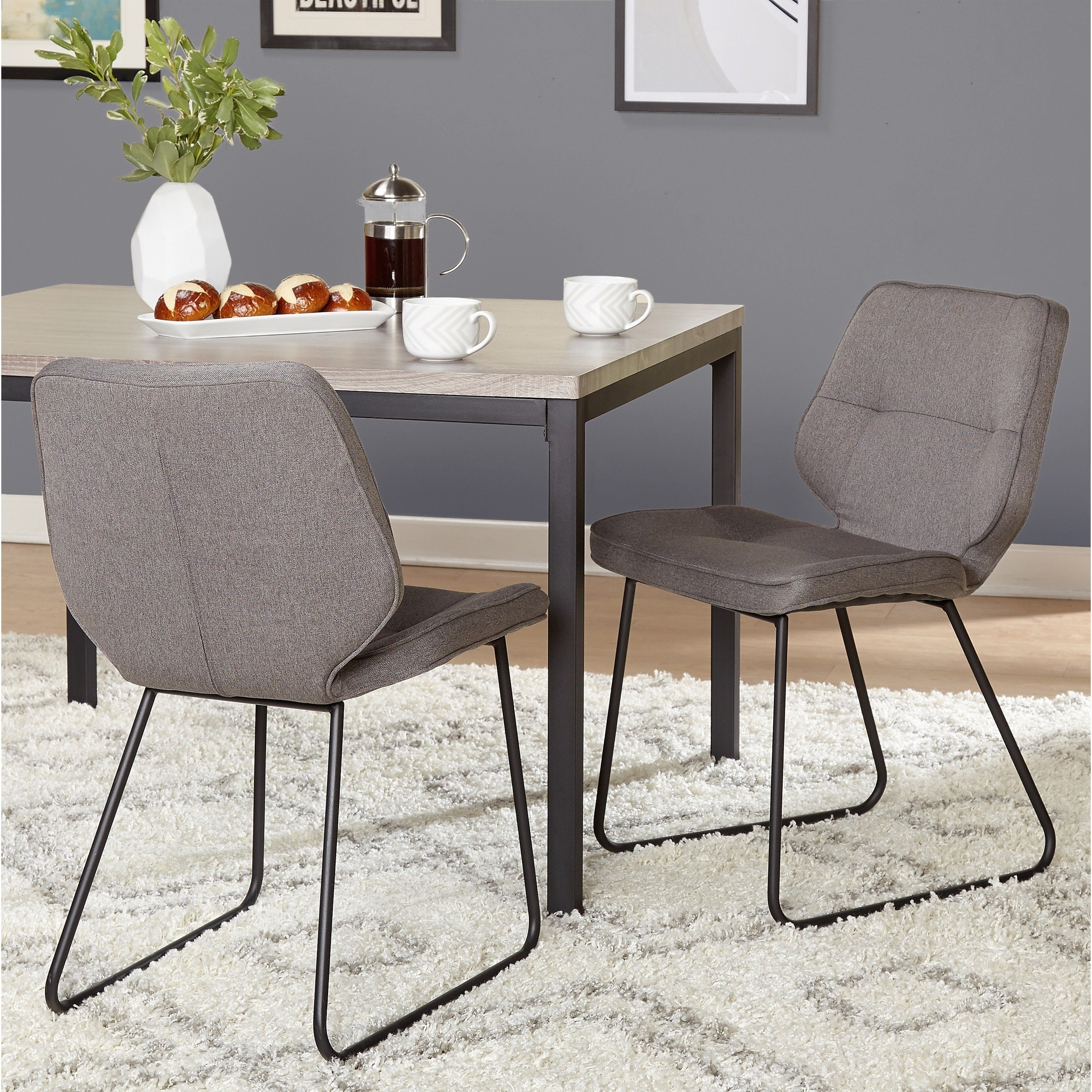 Shop Simple Living Kaden Chair (Set Of 2) – Free Shipping Today Within Current Caden 7 Piece Dining Sets With Upholstered Side Chair (View 14 of 20)