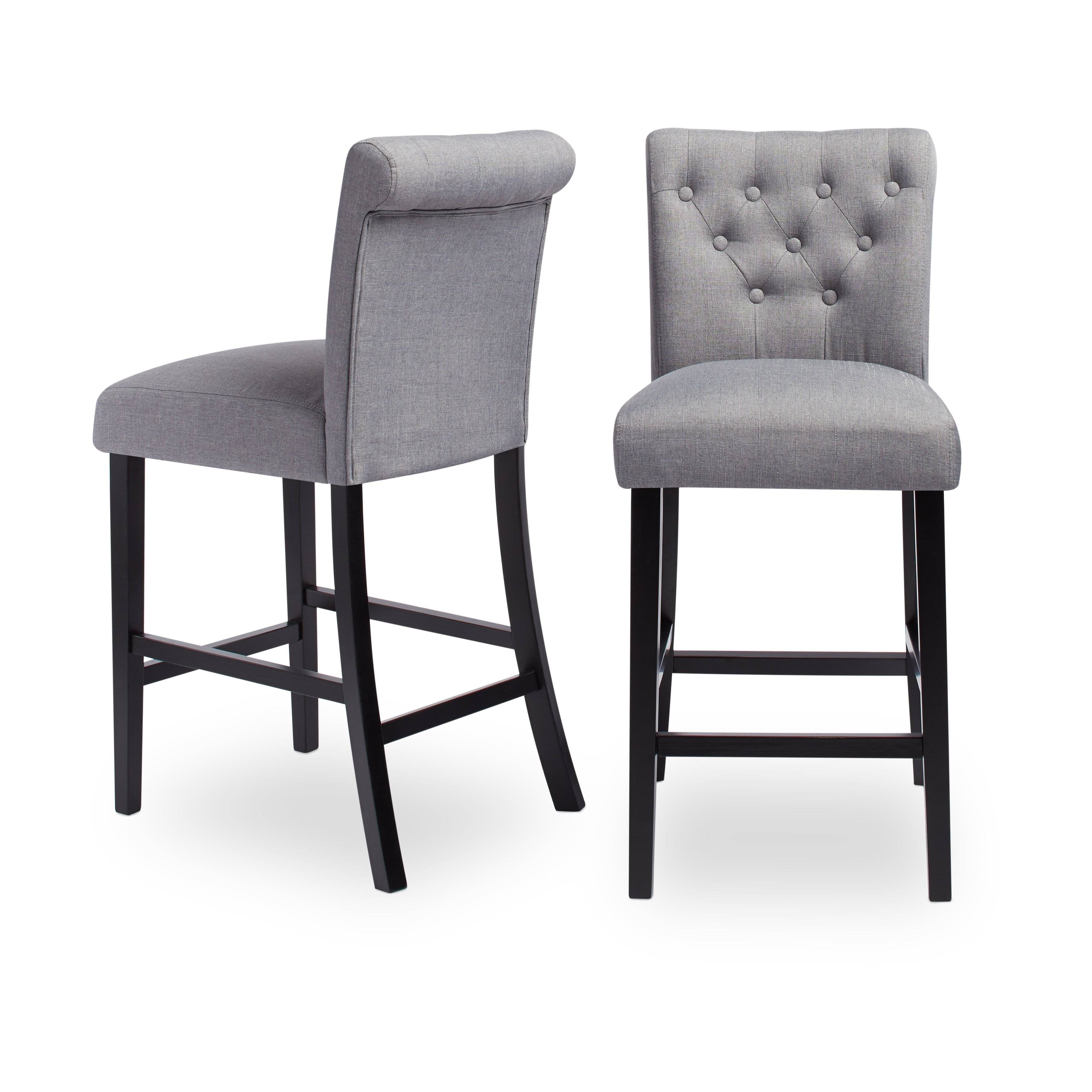 Shop Sopri Upholstered Counter Chairs (Set Of 2) – On Sale – Free Pertaining To Most Up To Date Laurent 7 Piece Counter Sets With Upholstered Counterstools (View 14 of 20)