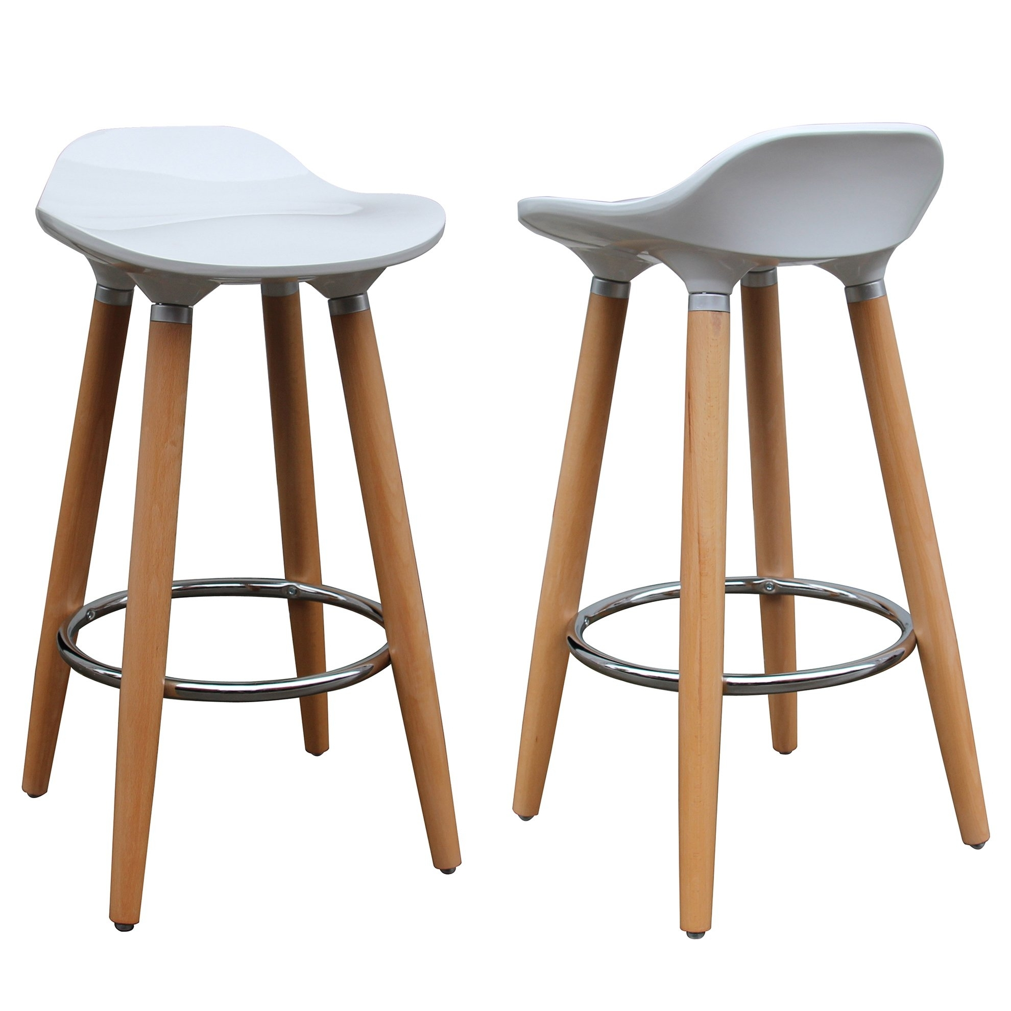 Shop Trex 26 Inch Counter Stool (Set Of 2) – Free Shipping Today With 2018 Laurent 7 Piece Counter Sets With Wood Counterstools (Image 14 of 20)